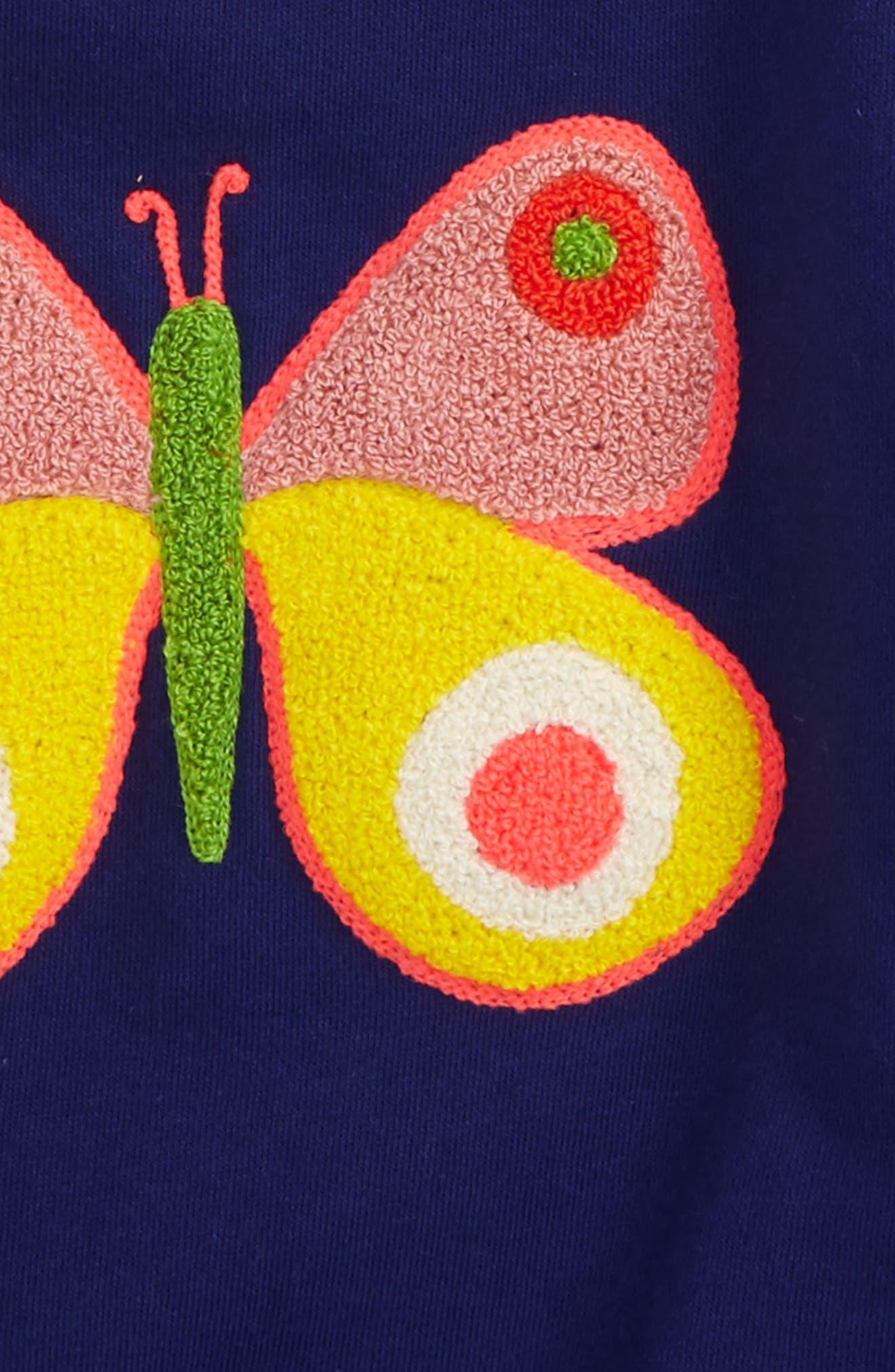 Alternate Image 2  - Mini Boden Bouclé Embroidered Sweatshirt (Toddler Girls, Little Girls & Big Girls)