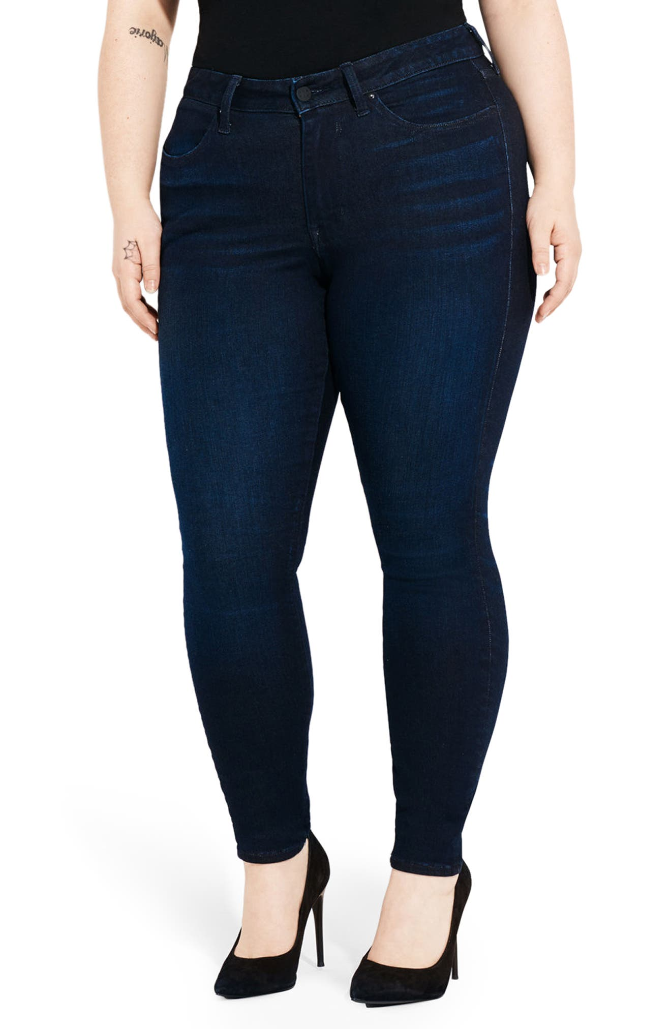 Alternate Image 4  - AYR The One Love High Waist Skinny Jeans (Jac's Jean) (Plus Size)