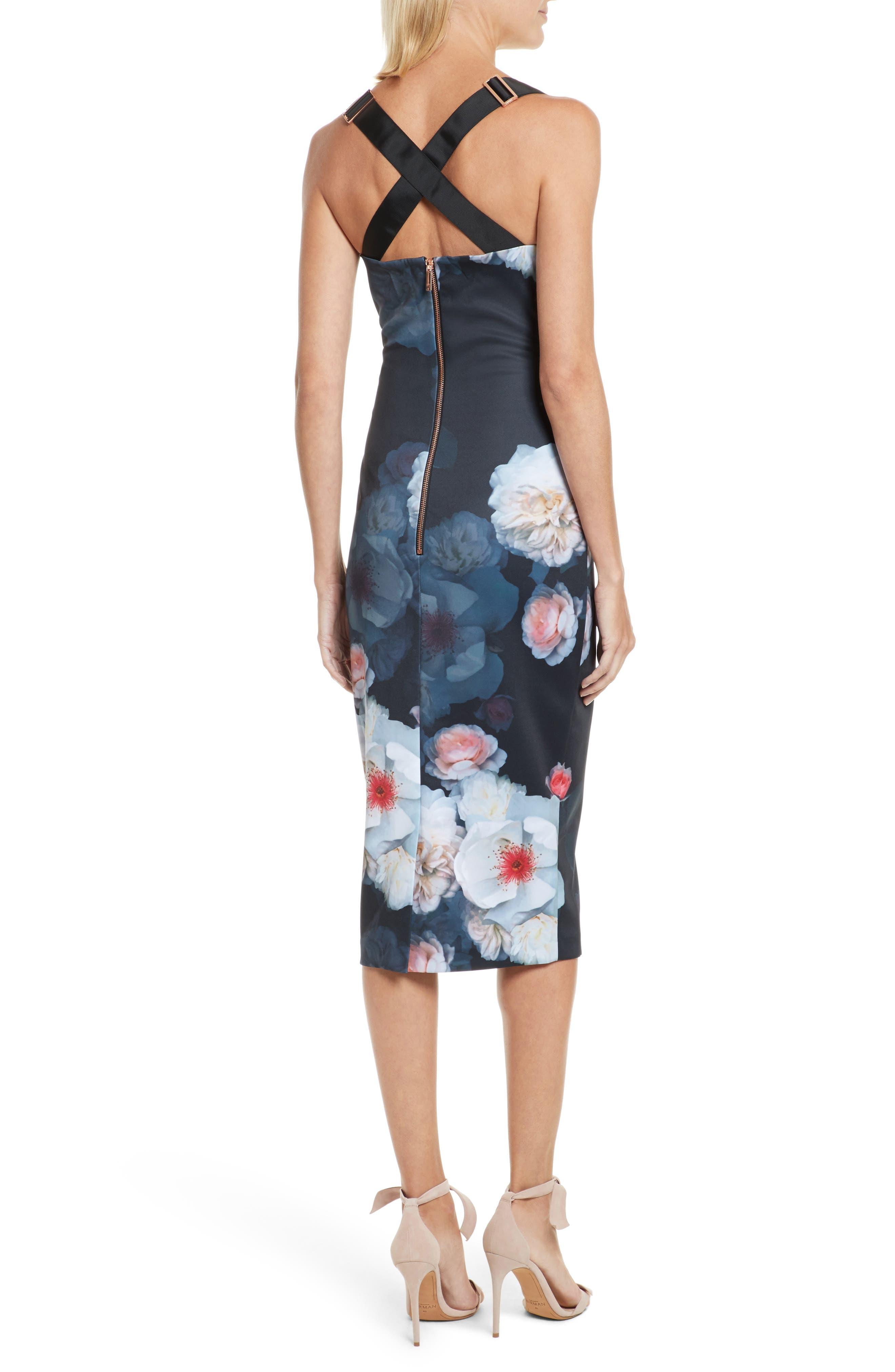 Teeki Chelsea Body-Con Dress,                             Alternate thumbnail 2, color,                             Black