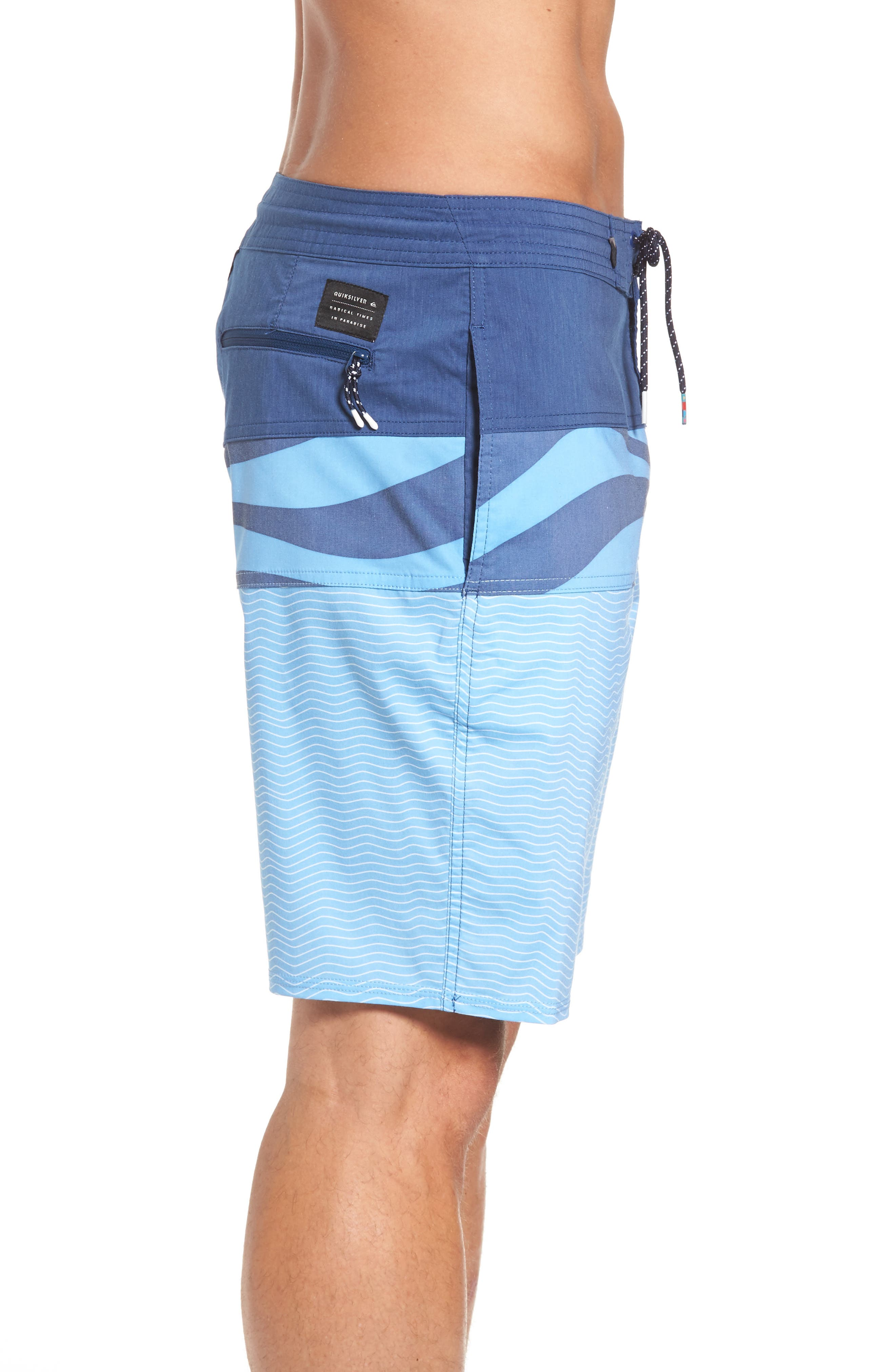 Heatwave Blocked Board Shorts,                             Alternate thumbnail 3, color,                             Blue