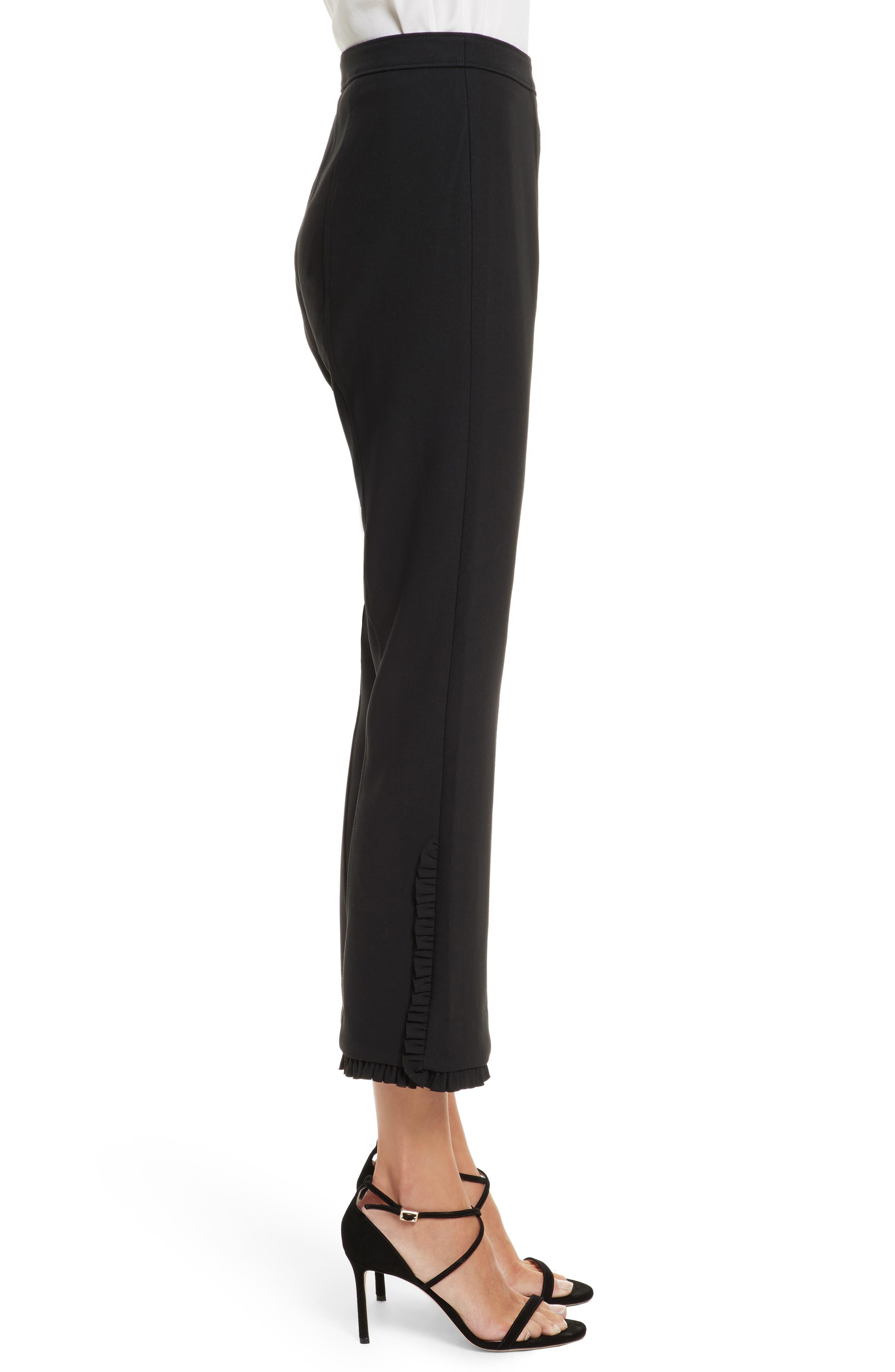 Seneca Flare Leg Crop Pants,                             Alternate thumbnail 3, color,                             Black