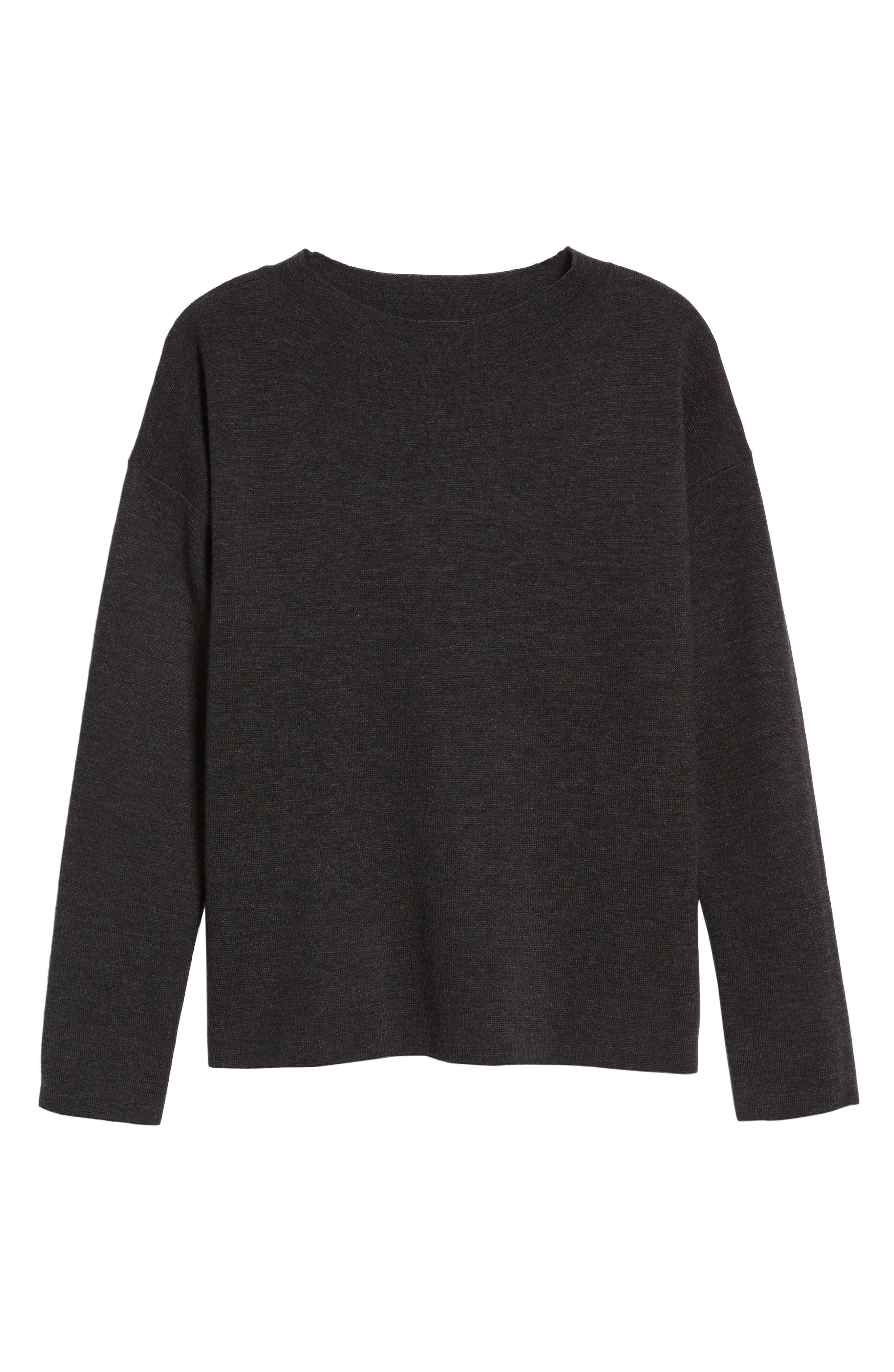 Alternate Image 6  - Eileen Fisher Mock Neck Box Wool Sweater