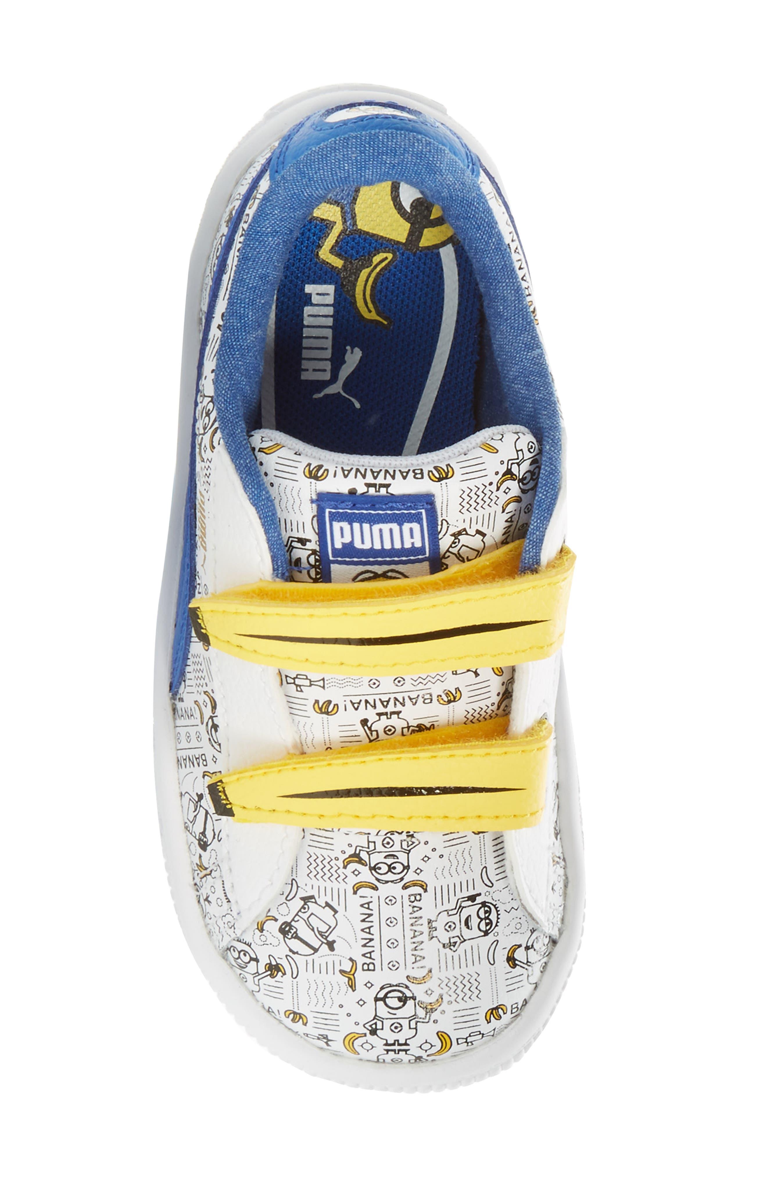 Alternate Image 5  - PUMA Minions® Basket V Sneaker (Baby, Walker & Toddler)