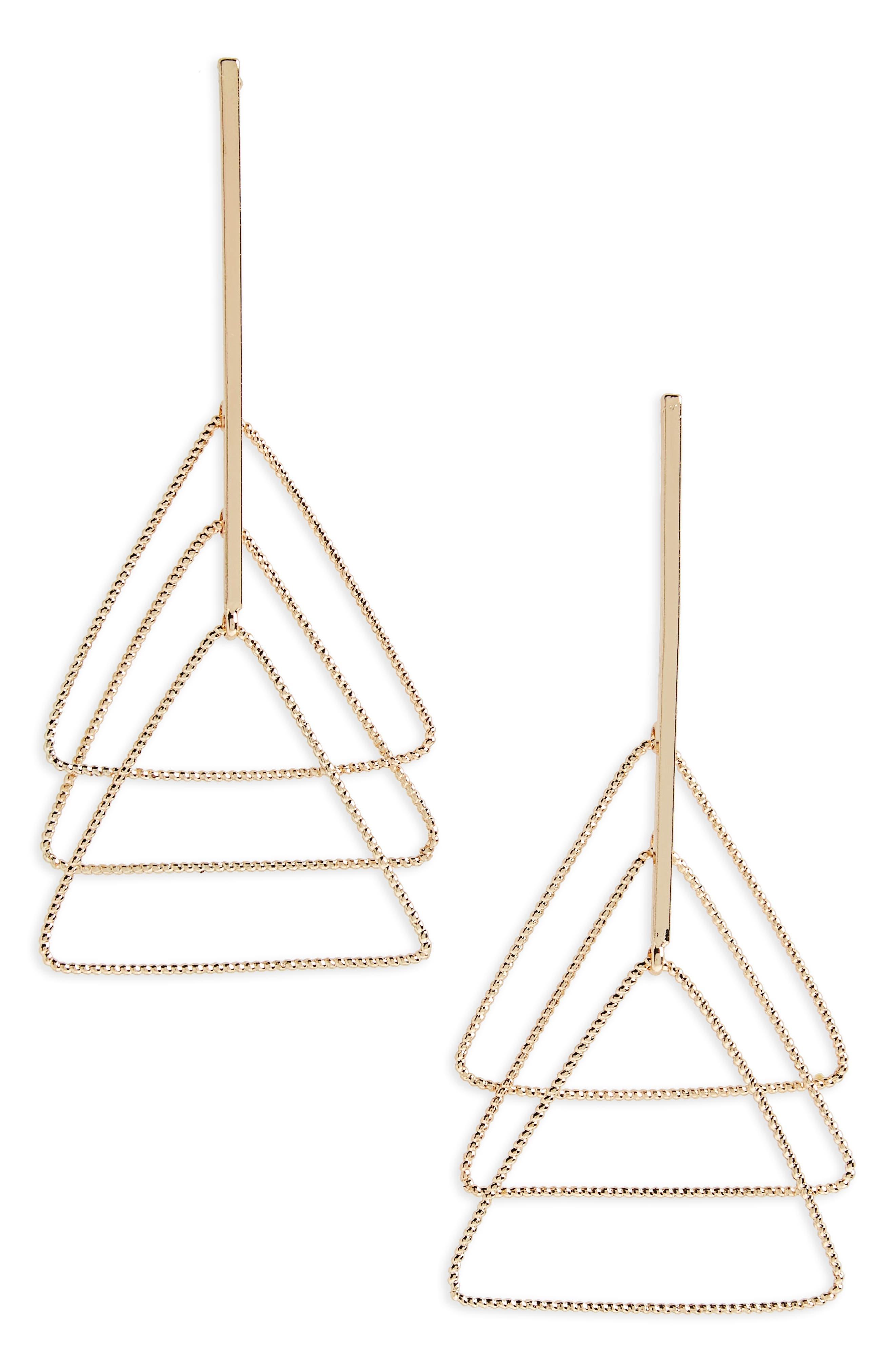 Natasha Triangle Drop Earrings