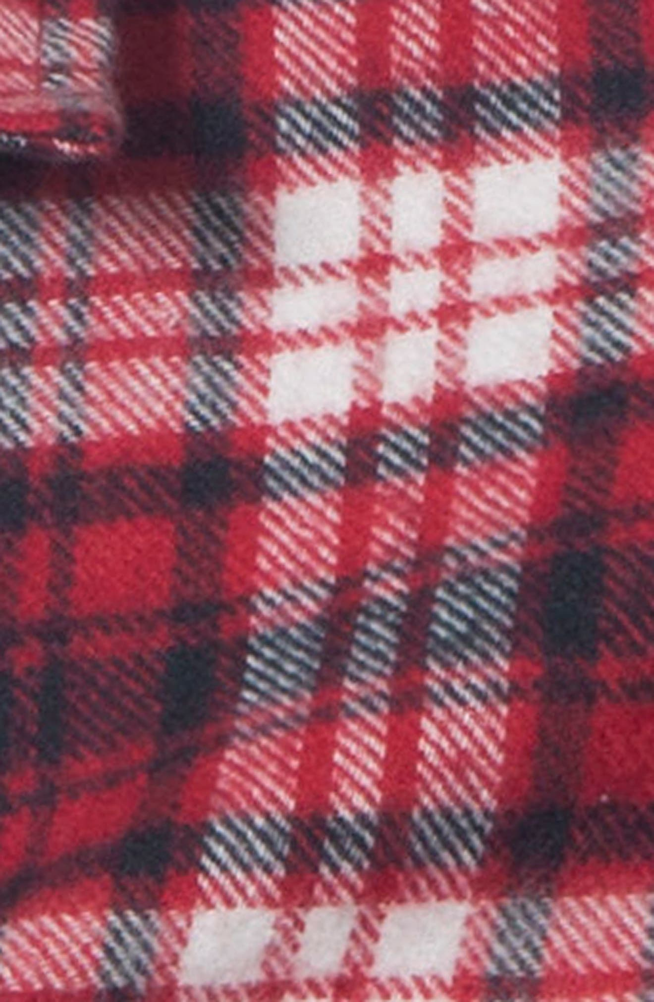 Bonfire Flannel Top,                             Alternate thumbnail 4, color,                             Red