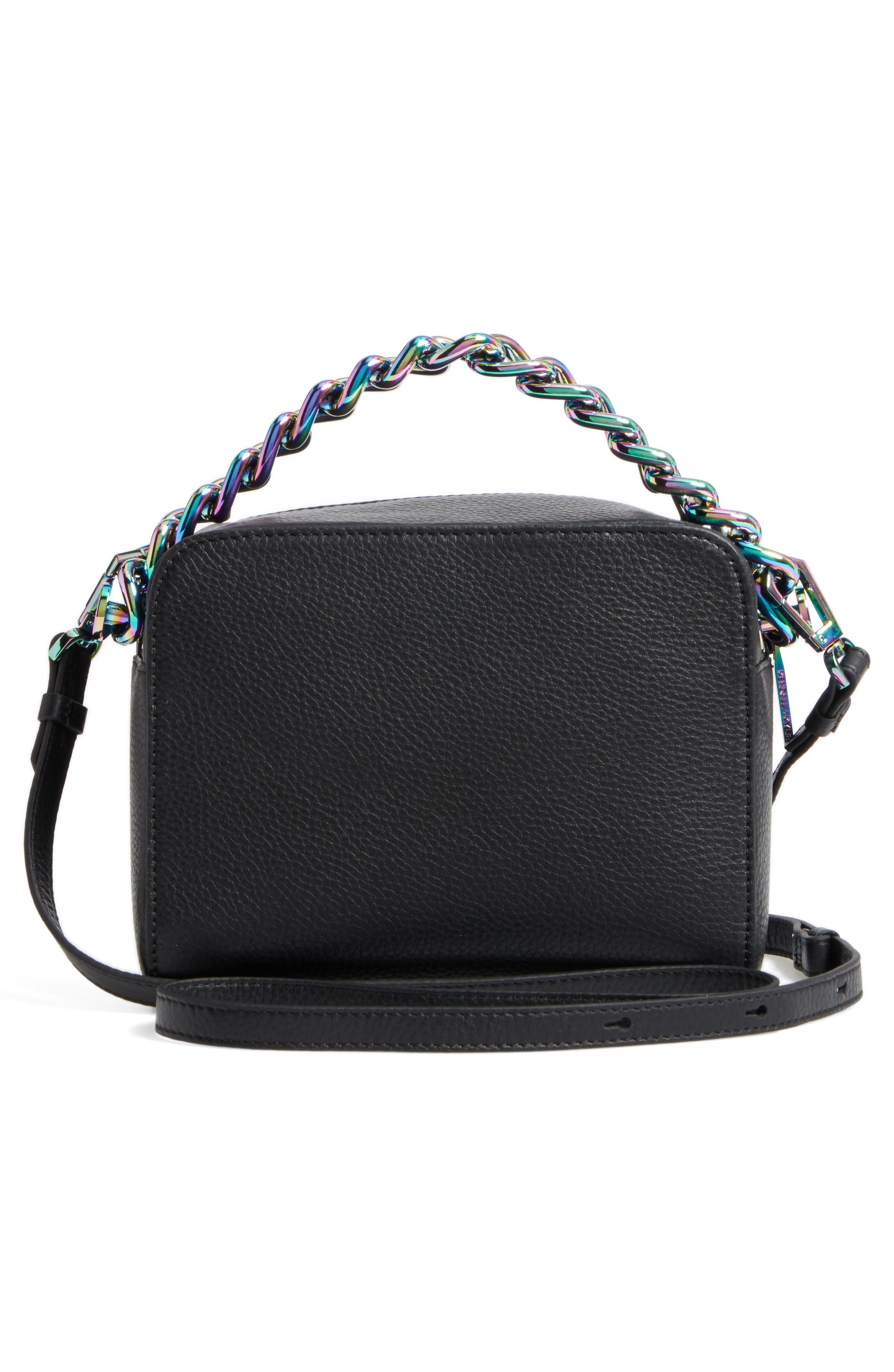 Lucy Lips Crossbody Bag,                             Alternate thumbnail 2, color,                             Black