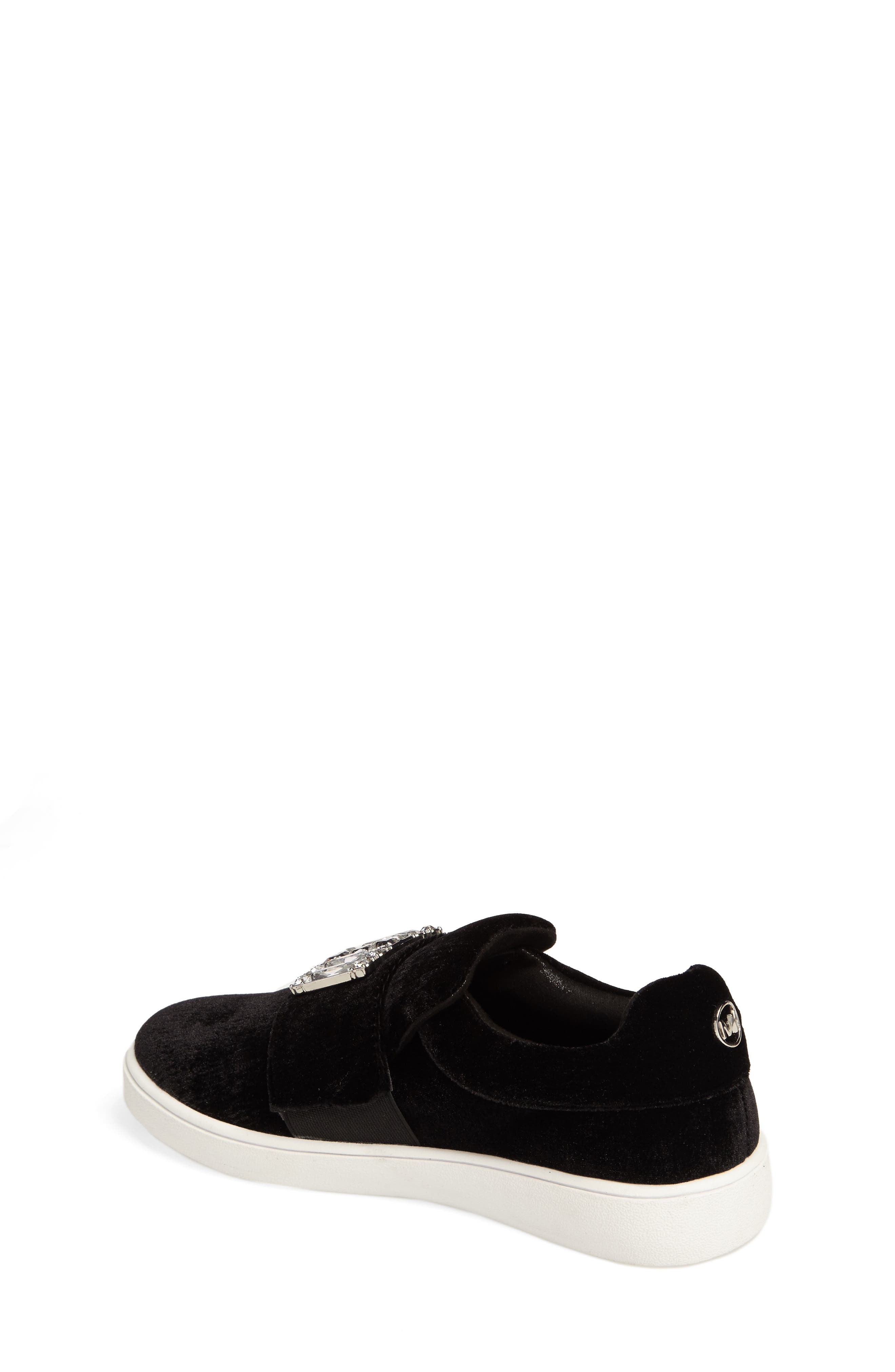 Alternate Image 2  - MICHAEL Michael Kors Ivy Dream Embellished Slip-On Sneaker (Little Kid & Big Kid)