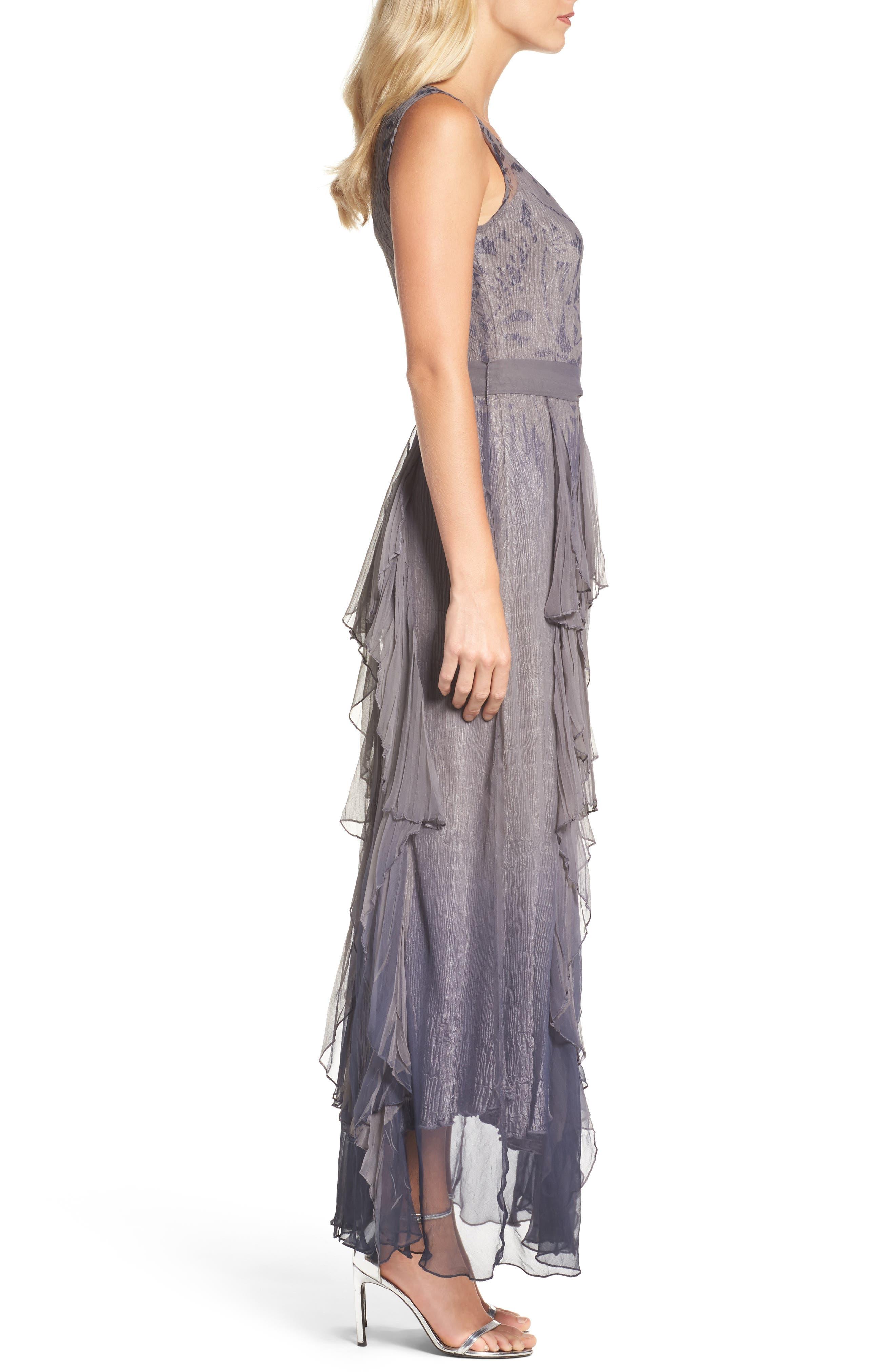 Alternate Image 3  - Komarov Print Sash Maxi Dress
