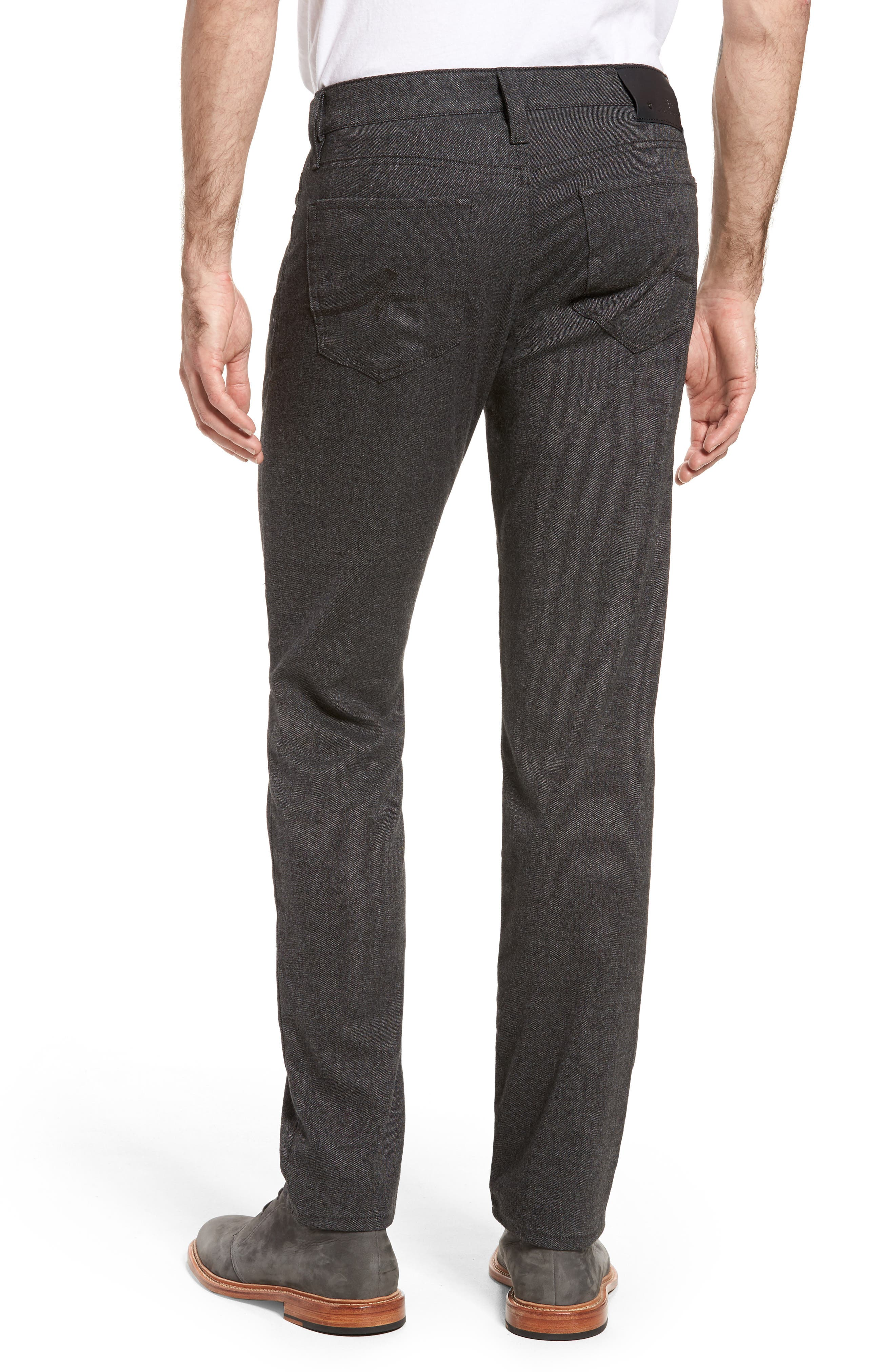 Courage Straight Leg Tweed Pants,                             Alternate thumbnail 2, color,                             Grey Feather Tweed