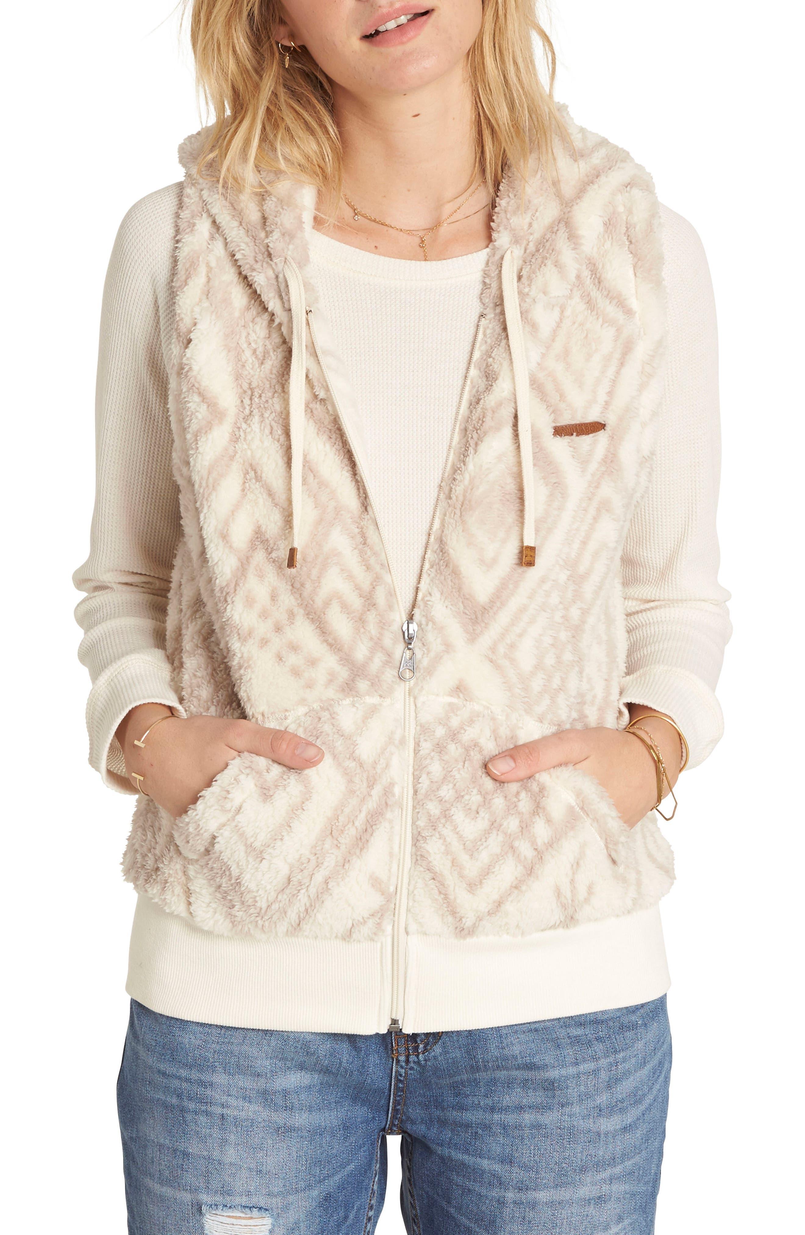 Billabong Side by Side Fleece Hooded Vest