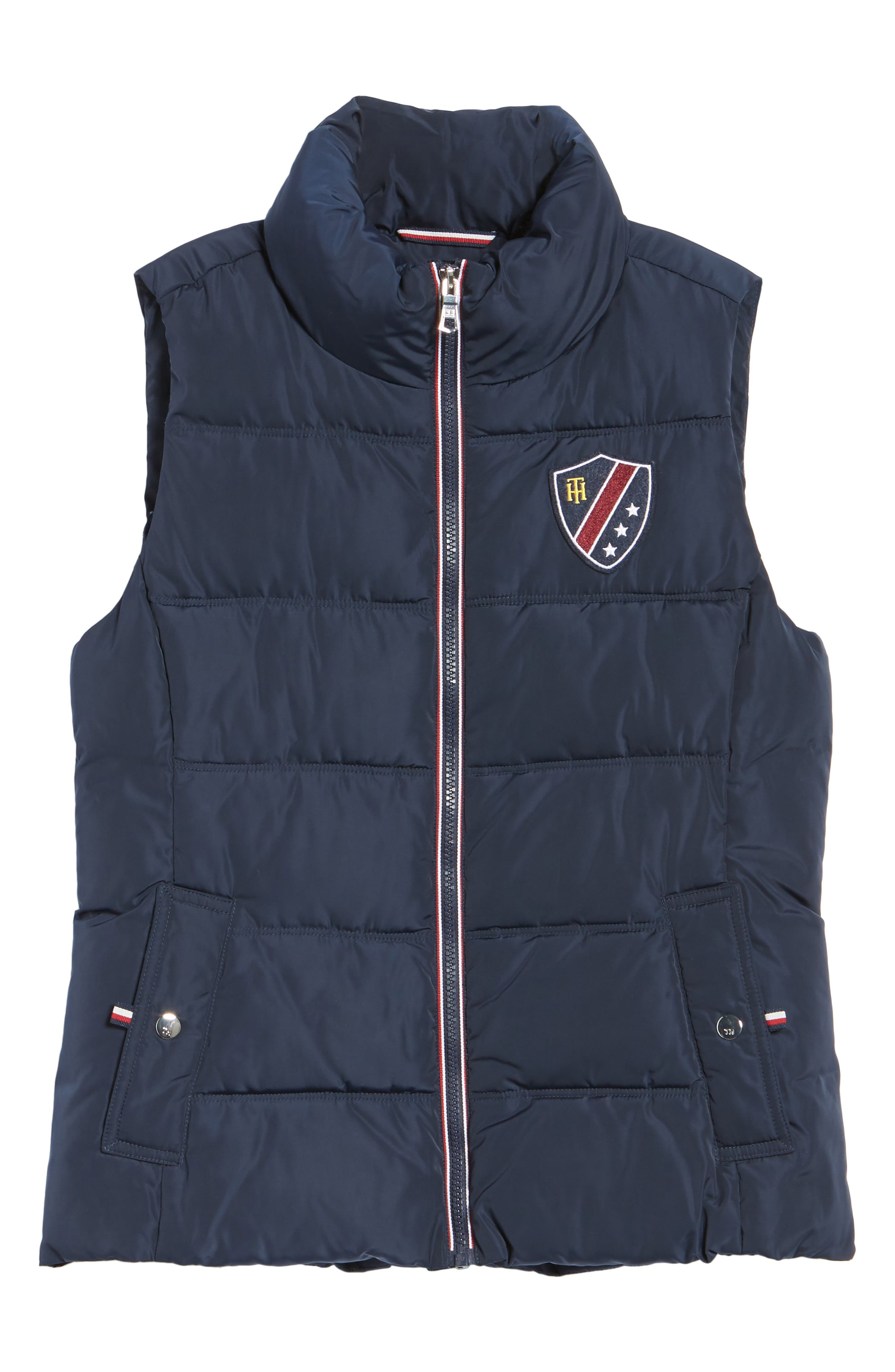 Quilted Puffer Vest,                             Alternate thumbnail 7, color,                             Navy