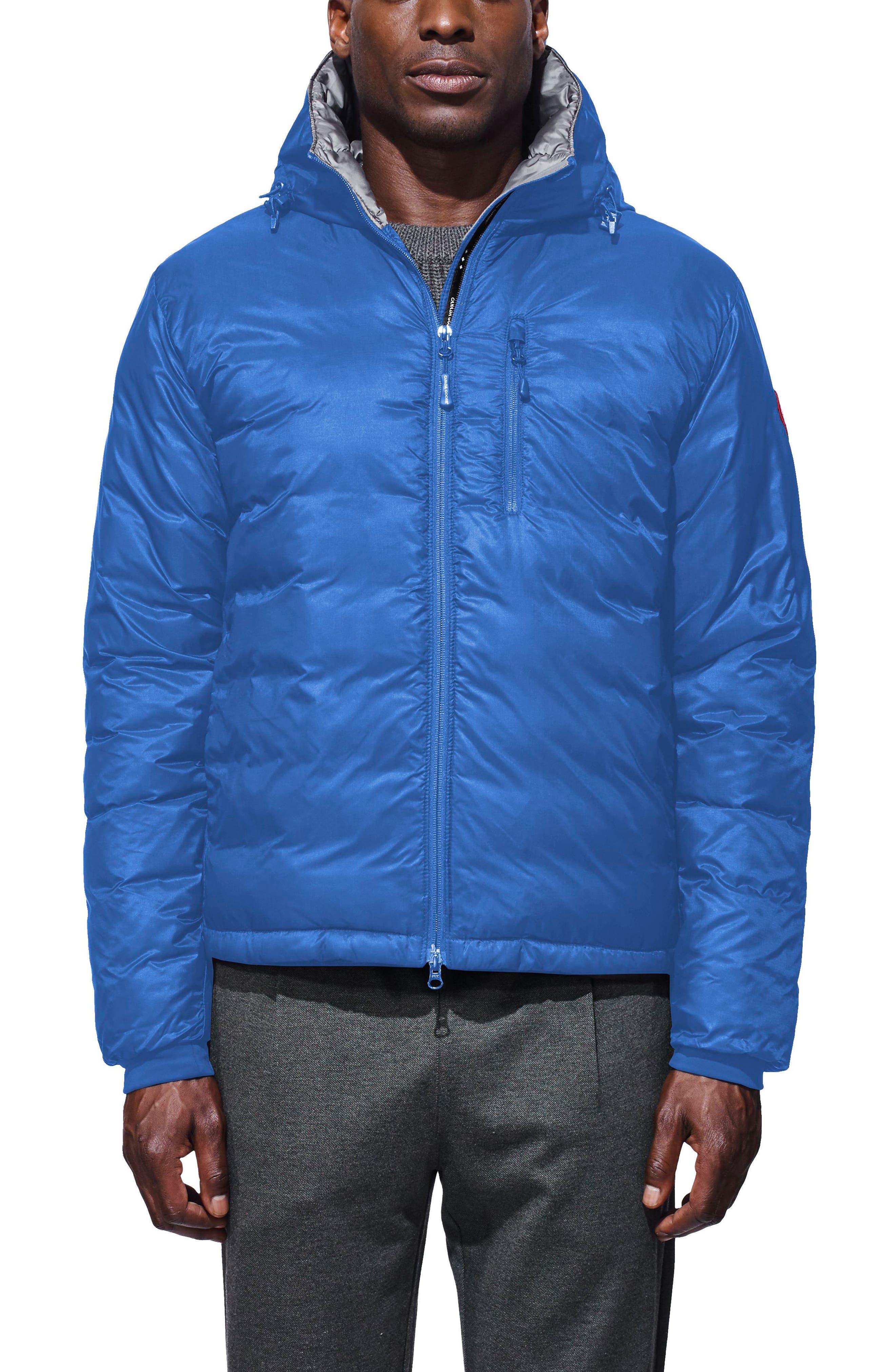 PBI Lodge Packable Down Hooded Jacket,                         Main,                         color, Royal Blue