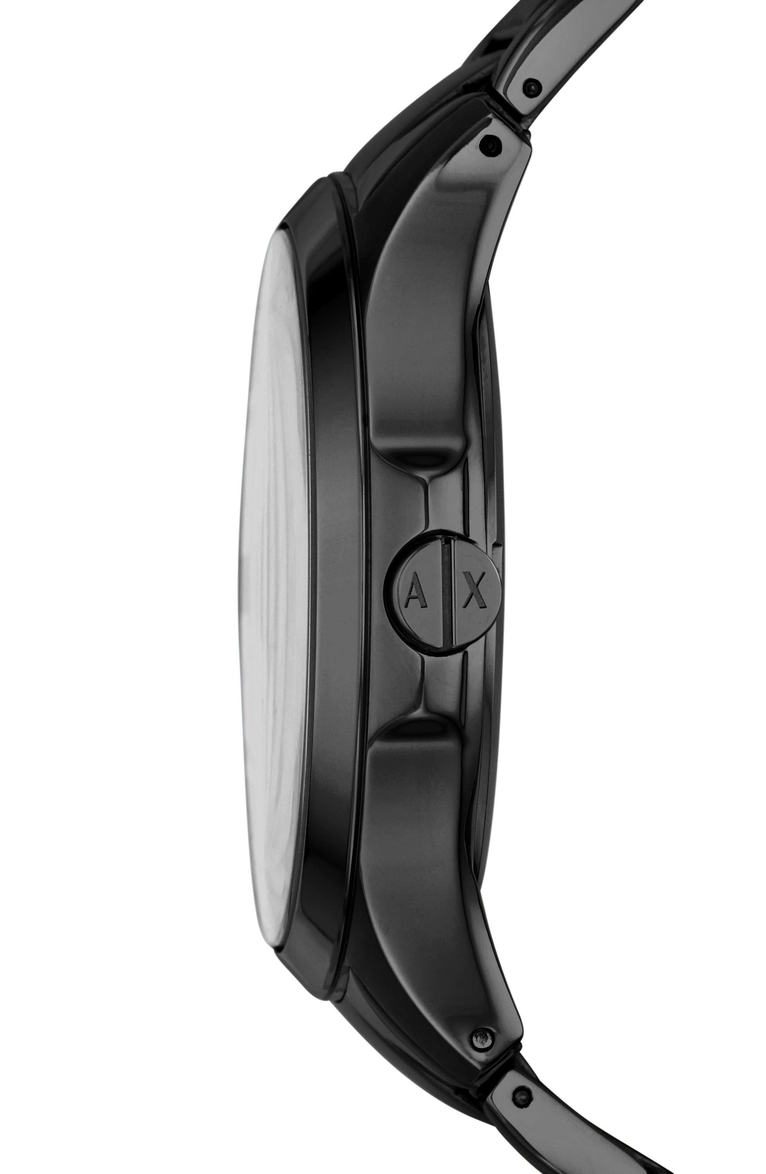 Alternate Image 2  - AX Armani Exchange Bracelet Watch, 46mm