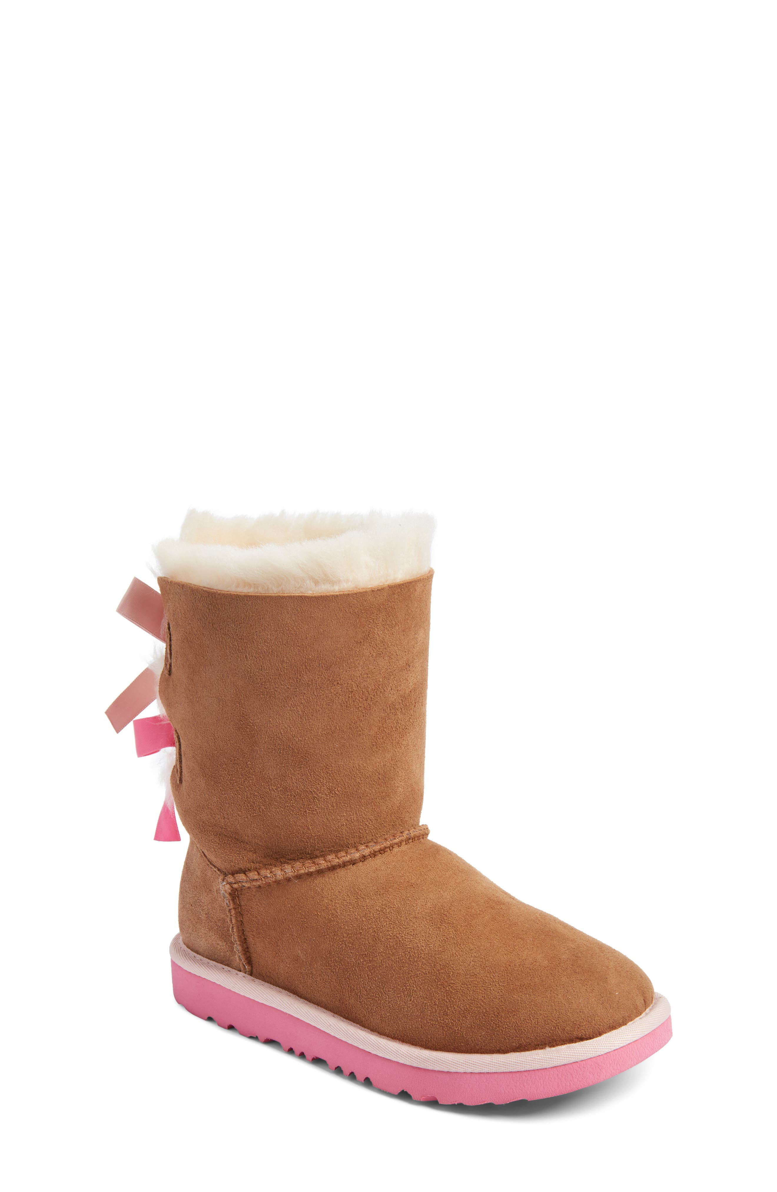 Main Image - UGG® Bailey Bow II Water Resistant Genuine Shearling Boot (Walker, Toddler, Little Kid & Big Kid)