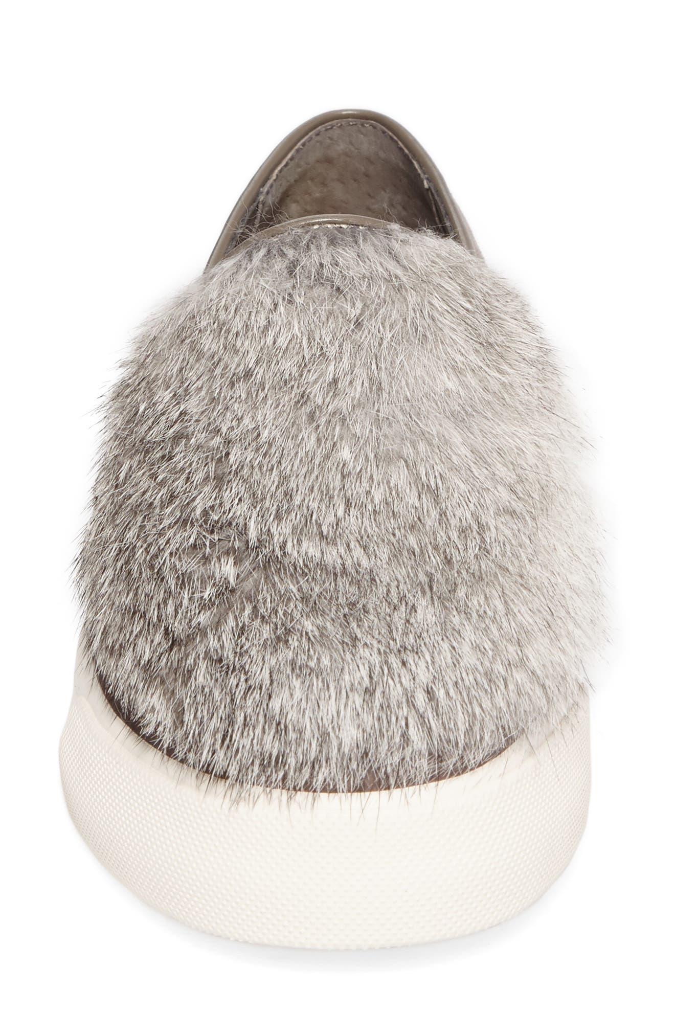 Alternate Image 4  - Louise et Cie Bershner Genuine Rabbit Fur Slip-On Sneaker (Women)