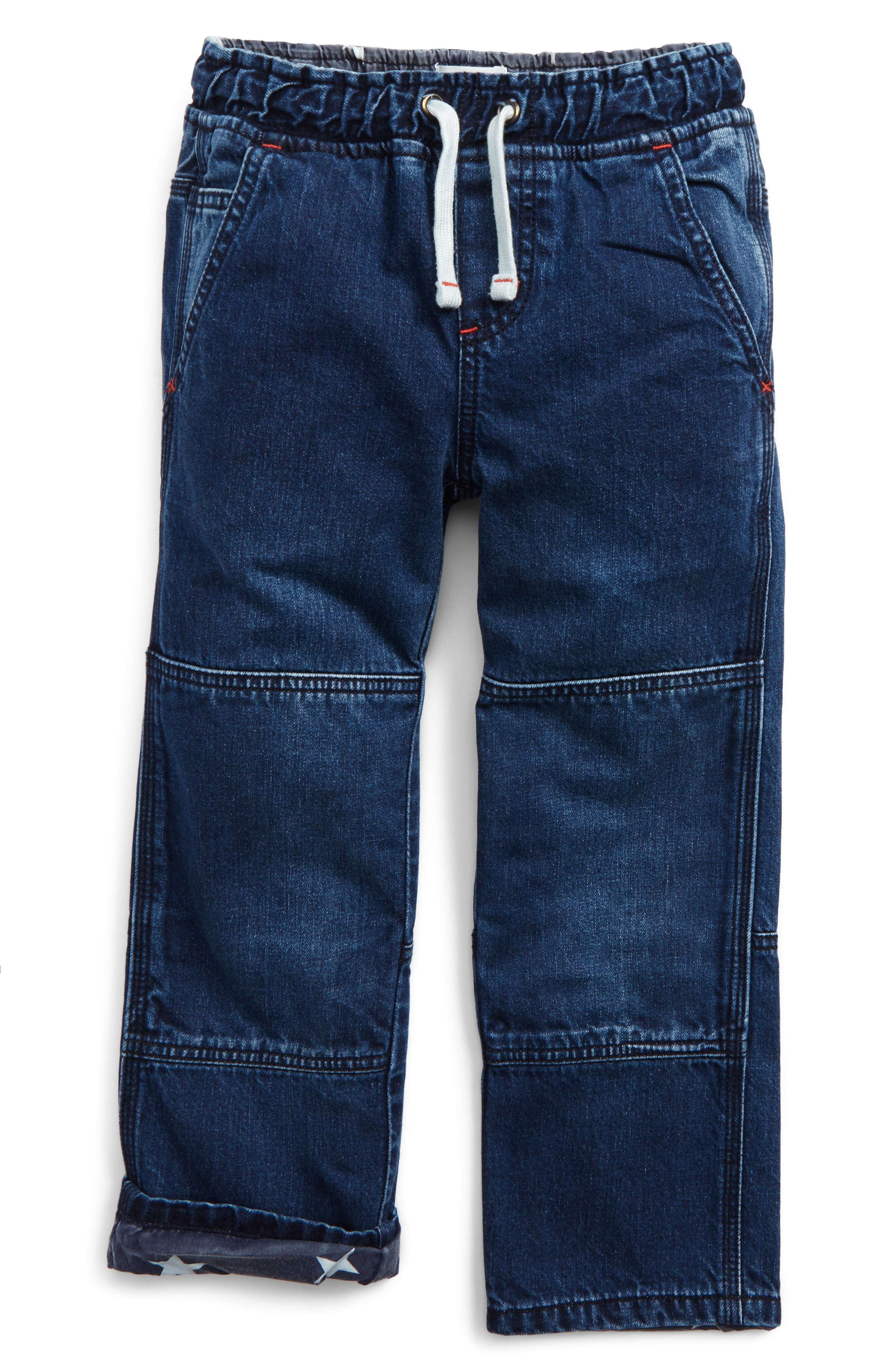 Mini Boden Denim Pull-On Pants (Toddler Boys, Little Boys & Big Boys)