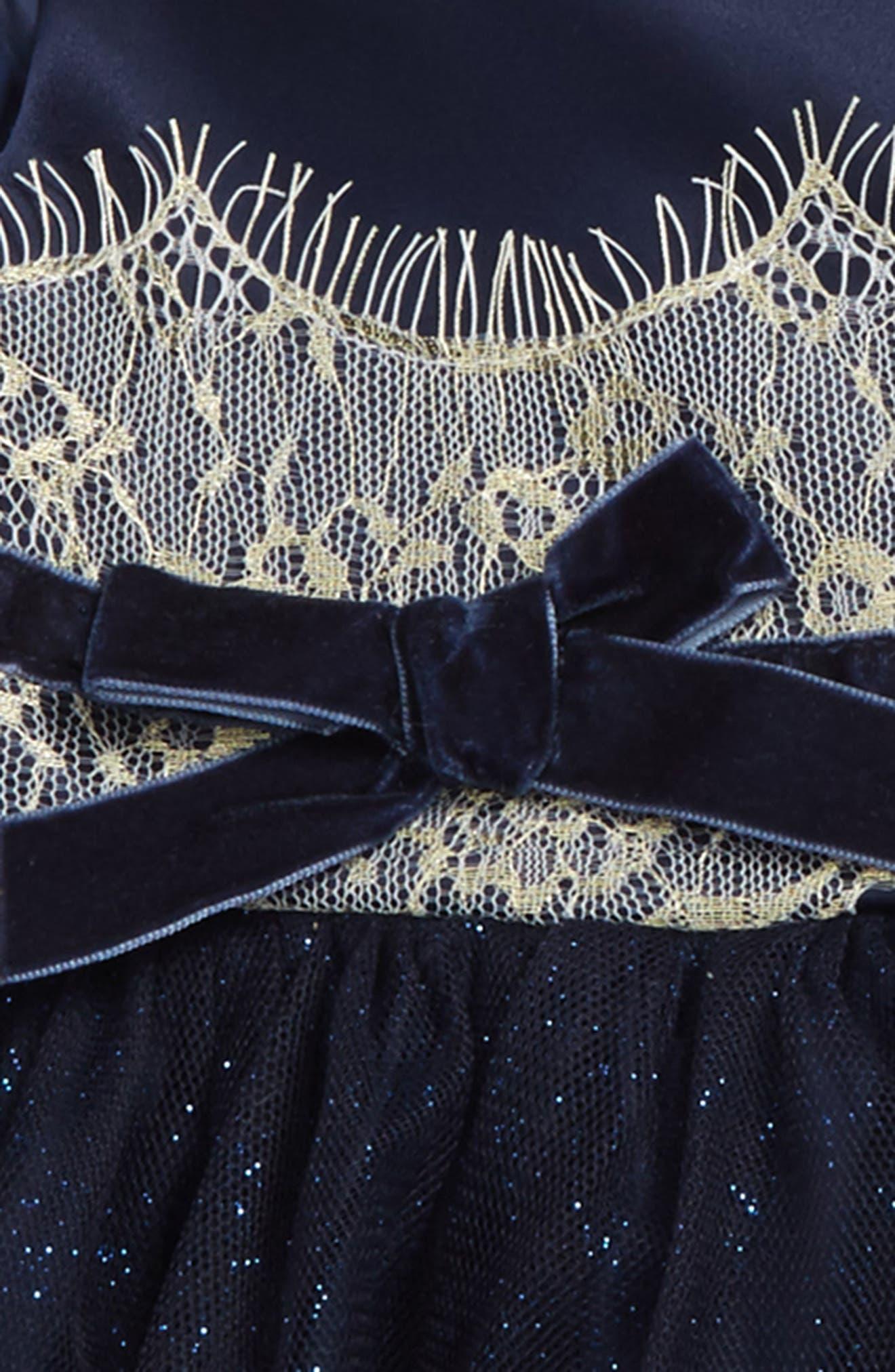 Alternate Image 2  - Nanette Lepore Shimmer Lace & Tulle Dress (Baby Girls)