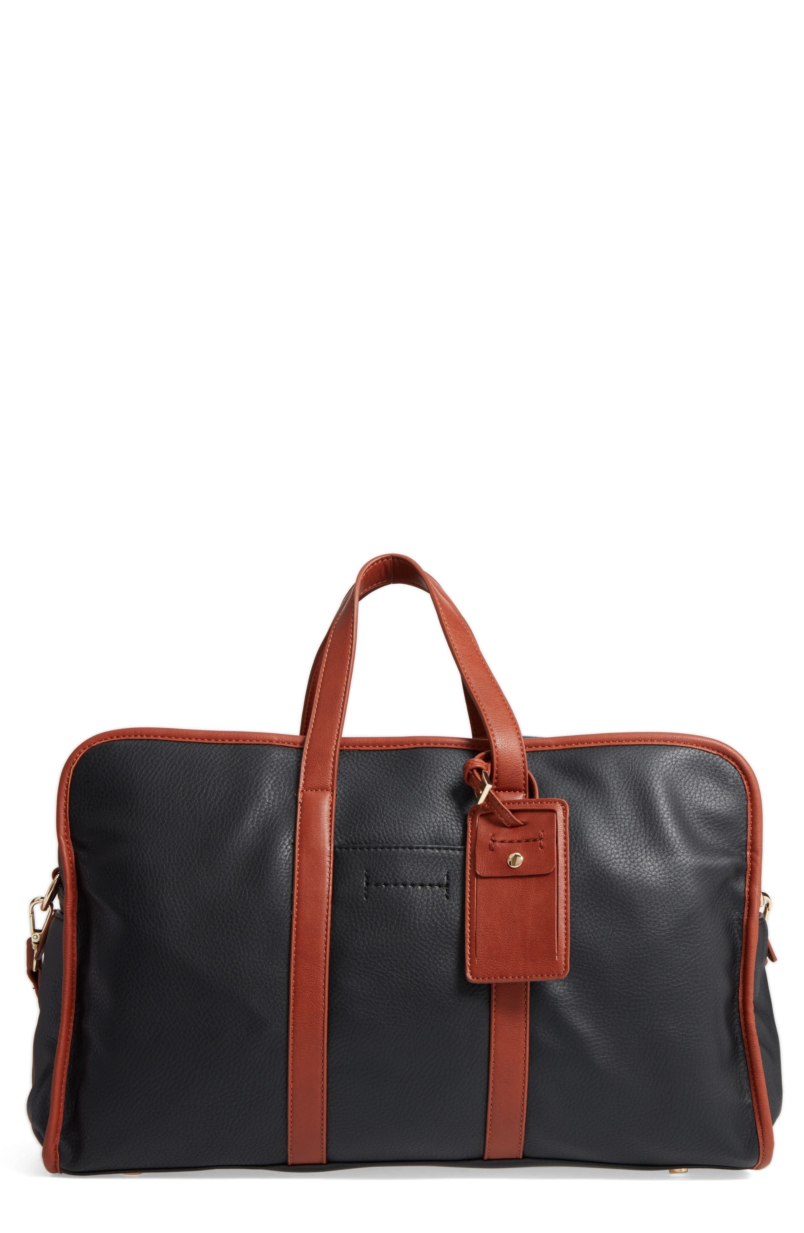 Main Image - Sole Society Doxin Faux Leather Duffel Bag