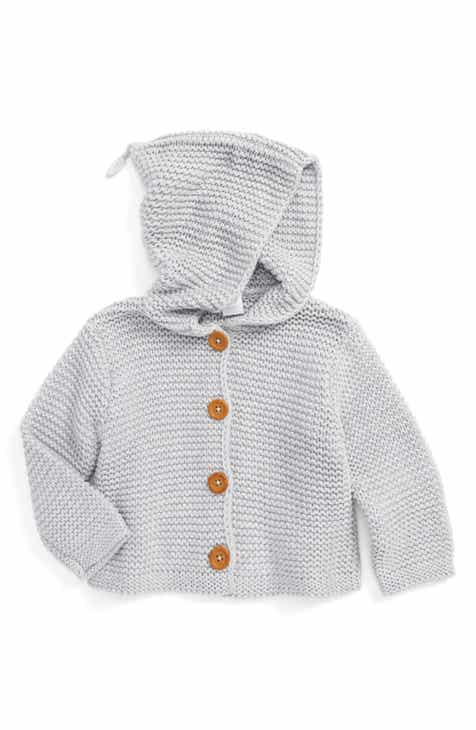 499023a00 Nordstrom Baby Organic Cotton Hooded Cardigan (Baby)