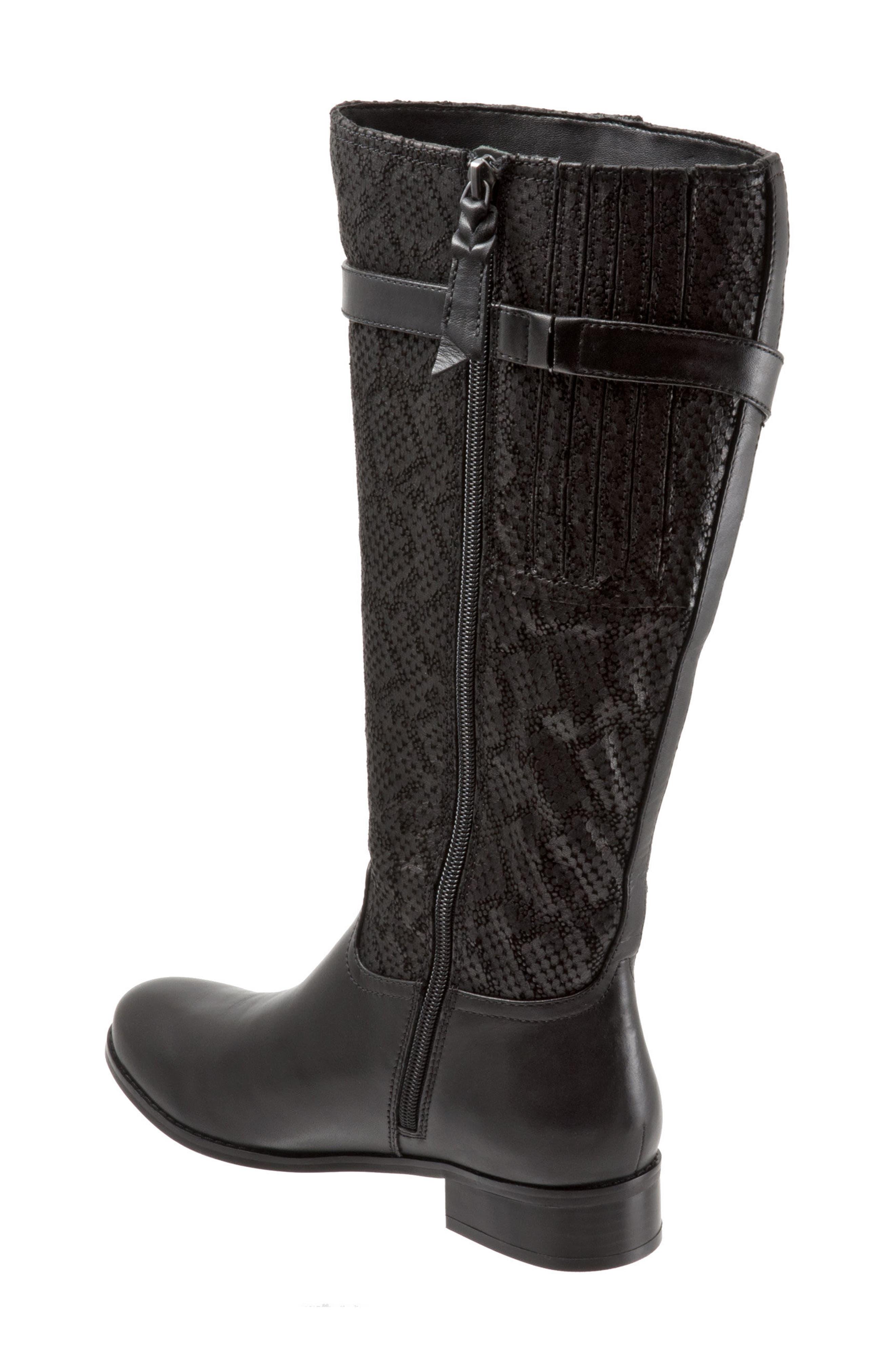 Lyra Tall Boot,                             Alternate thumbnail 2, color,                             Black