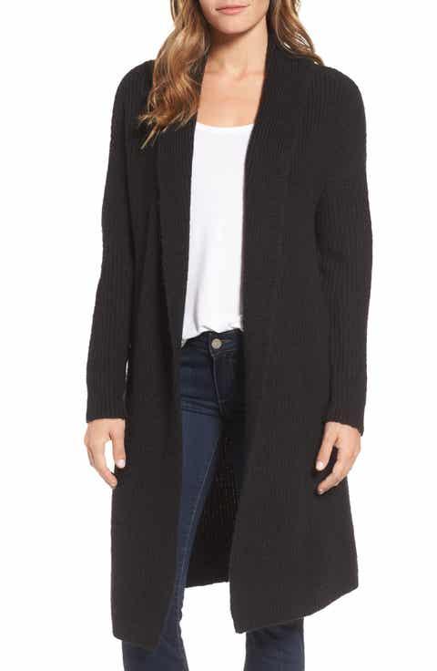 Halogen® Textured Open Front Cardigan (Regular & Petite)