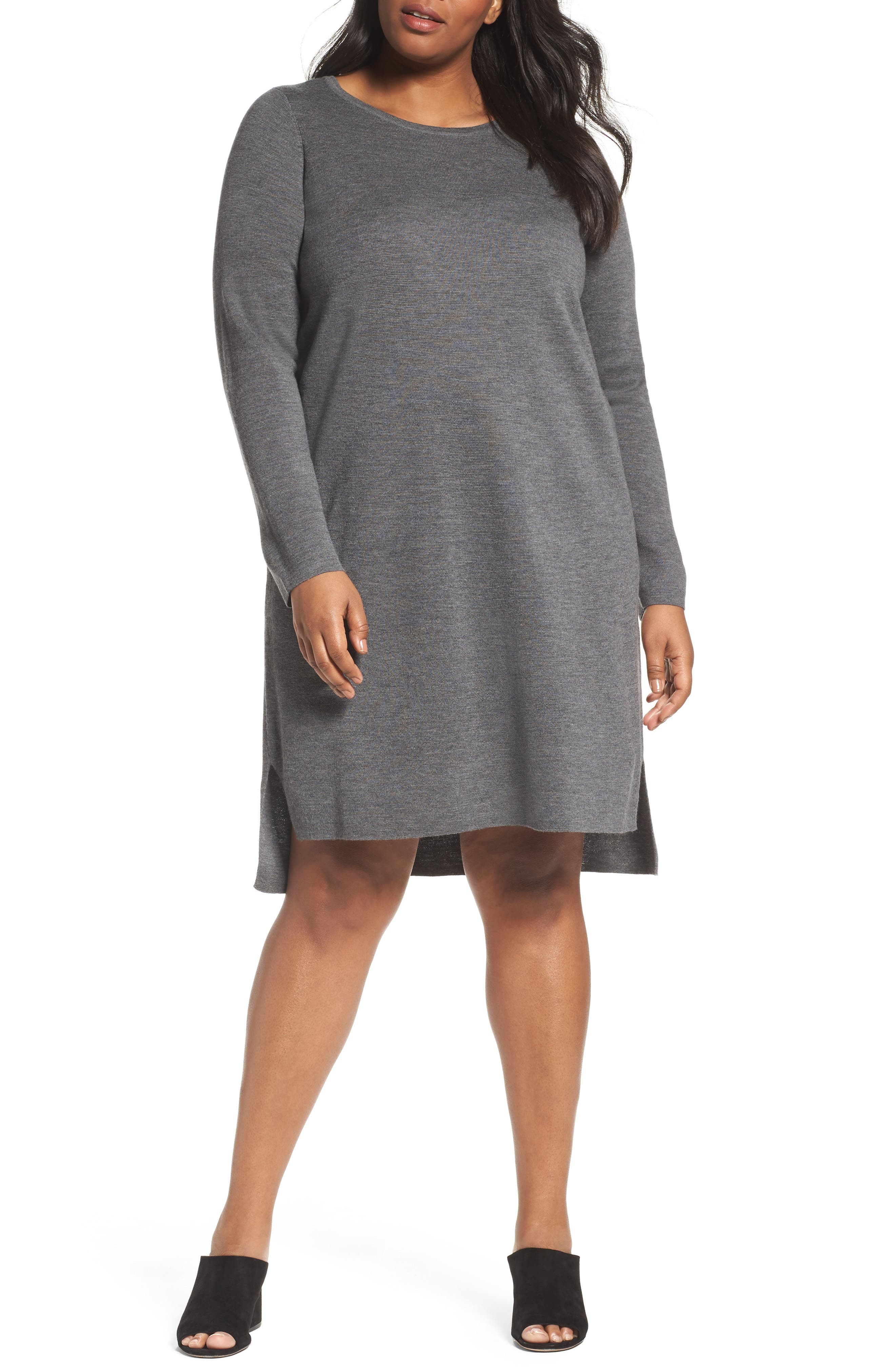 Eileen Fisher Merino Wool Sweater Dress (Plus Size)