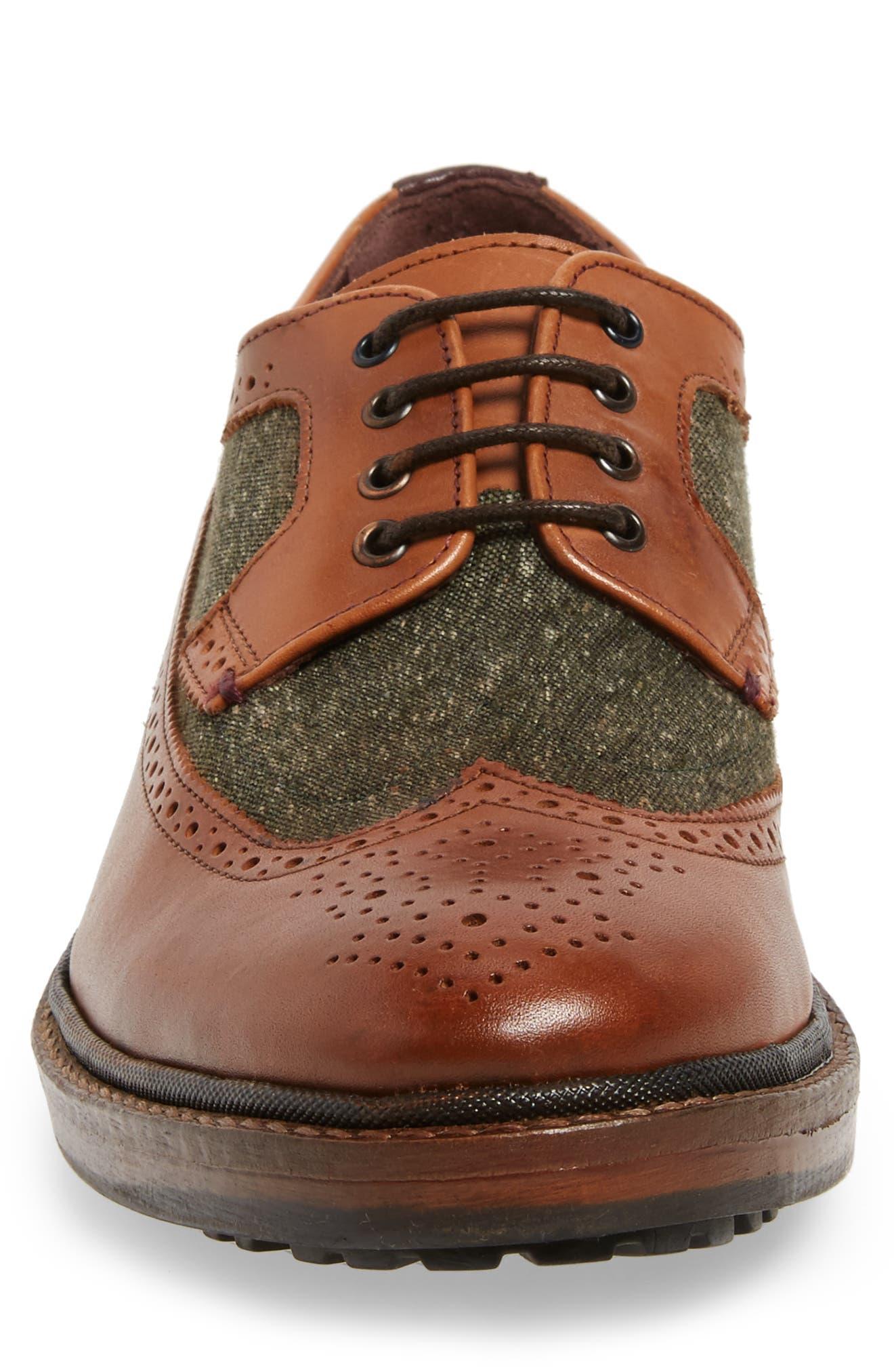 Casbo Spectator Shoe,                             Alternate thumbnail 4, color,                             Tan Multi Leather