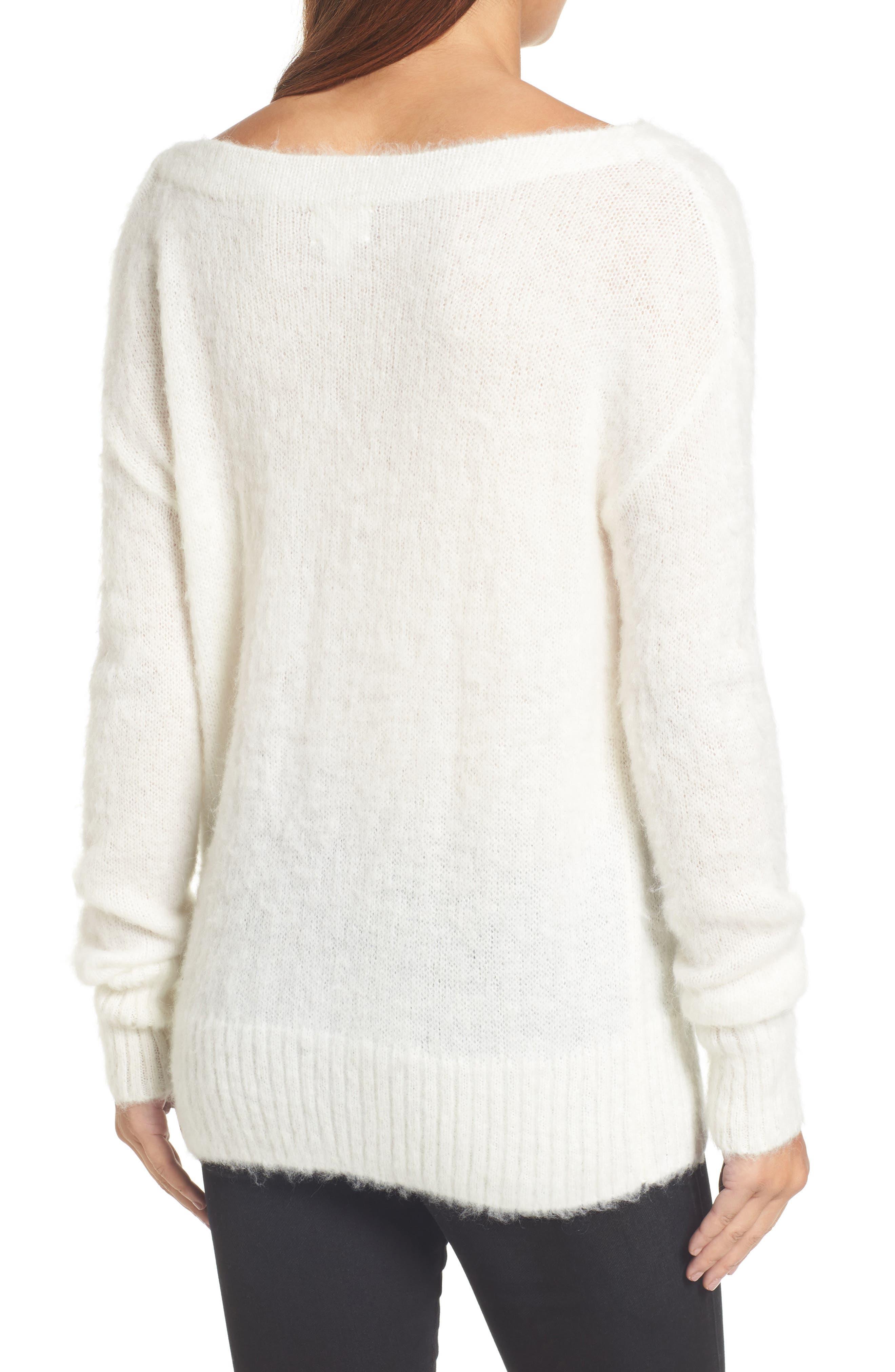 Alternate Image 2  - Caslon® Long Sleeve Brushed Sweater (Regular & Petite)