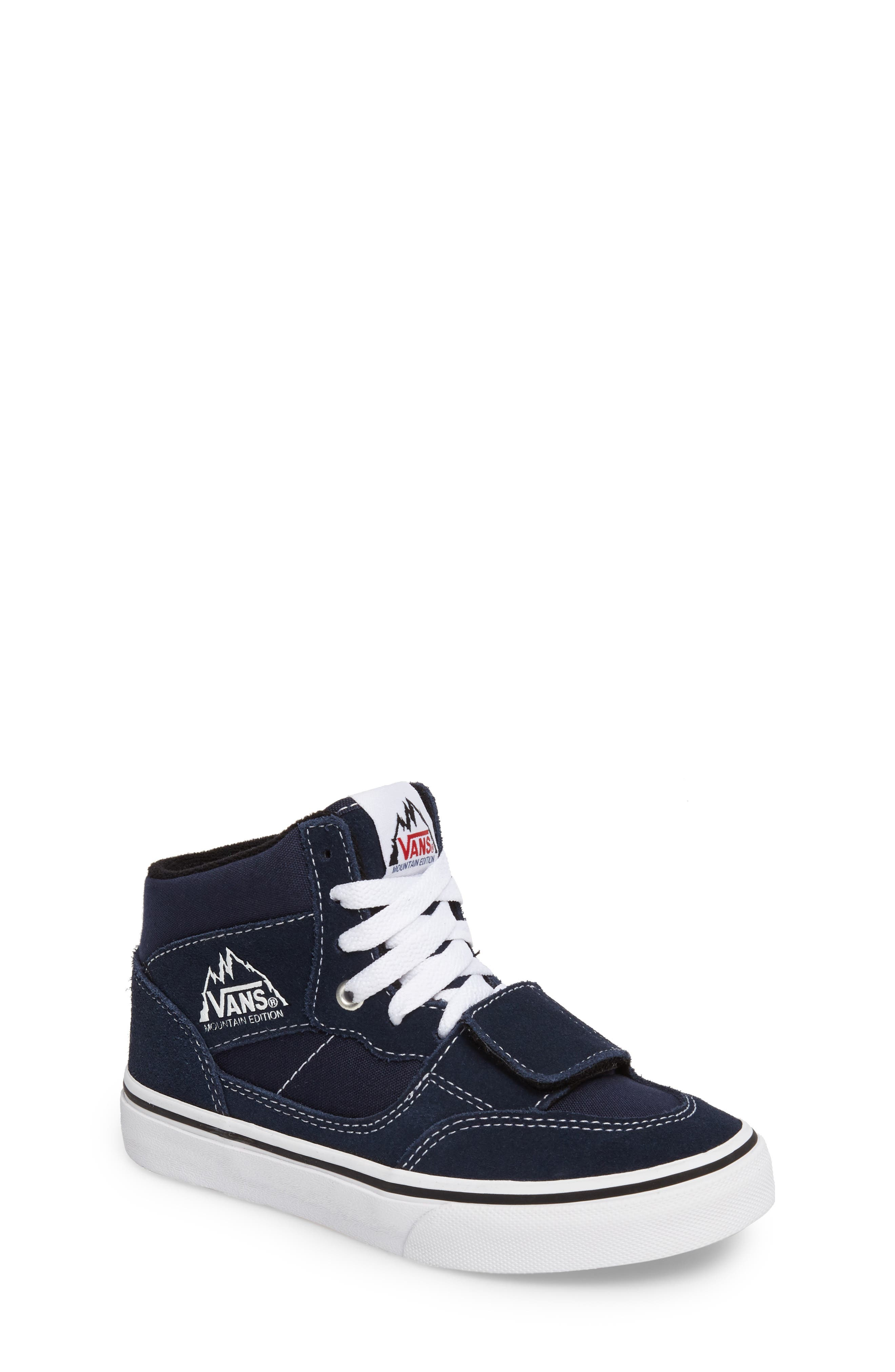 Mountain Edition Mid Top Sneaker,                         Main,                         color, Dress Blue Canvas/ Suede