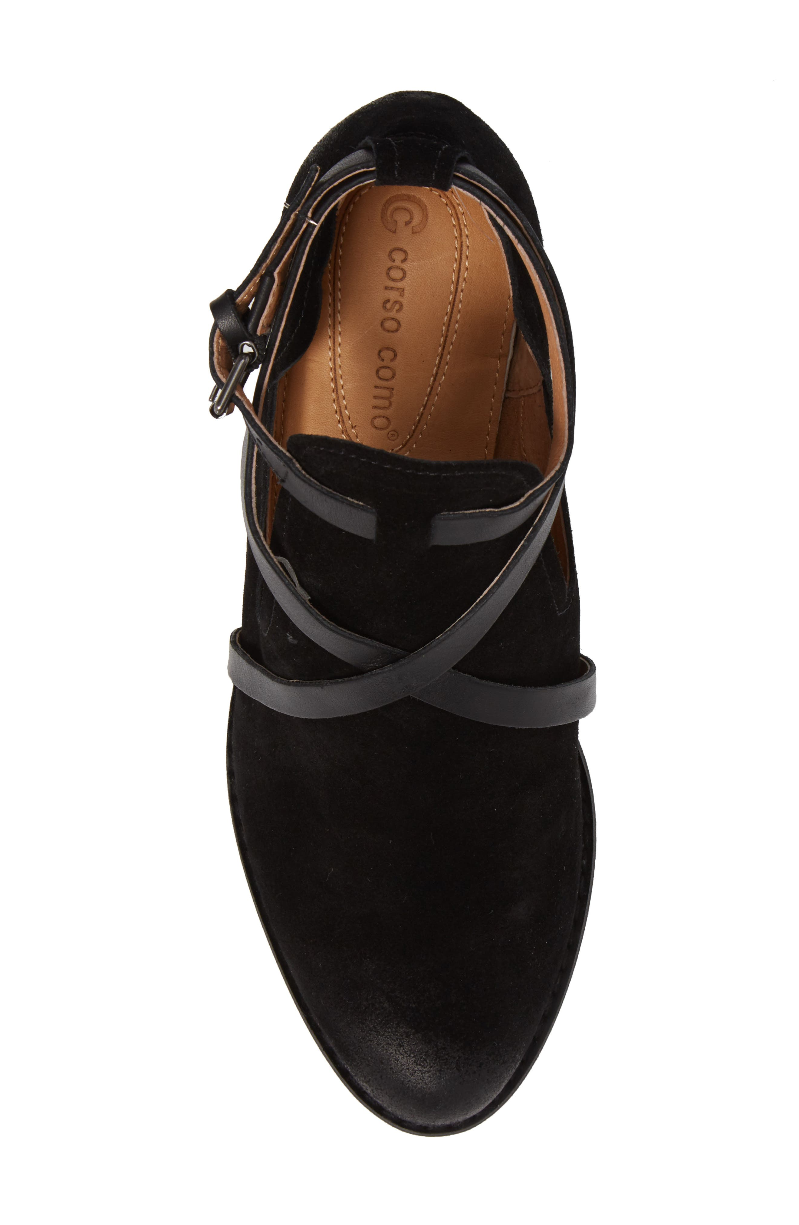 Hanna Bootie,                             Alternate thumbnail 5, color,                             Black Suede