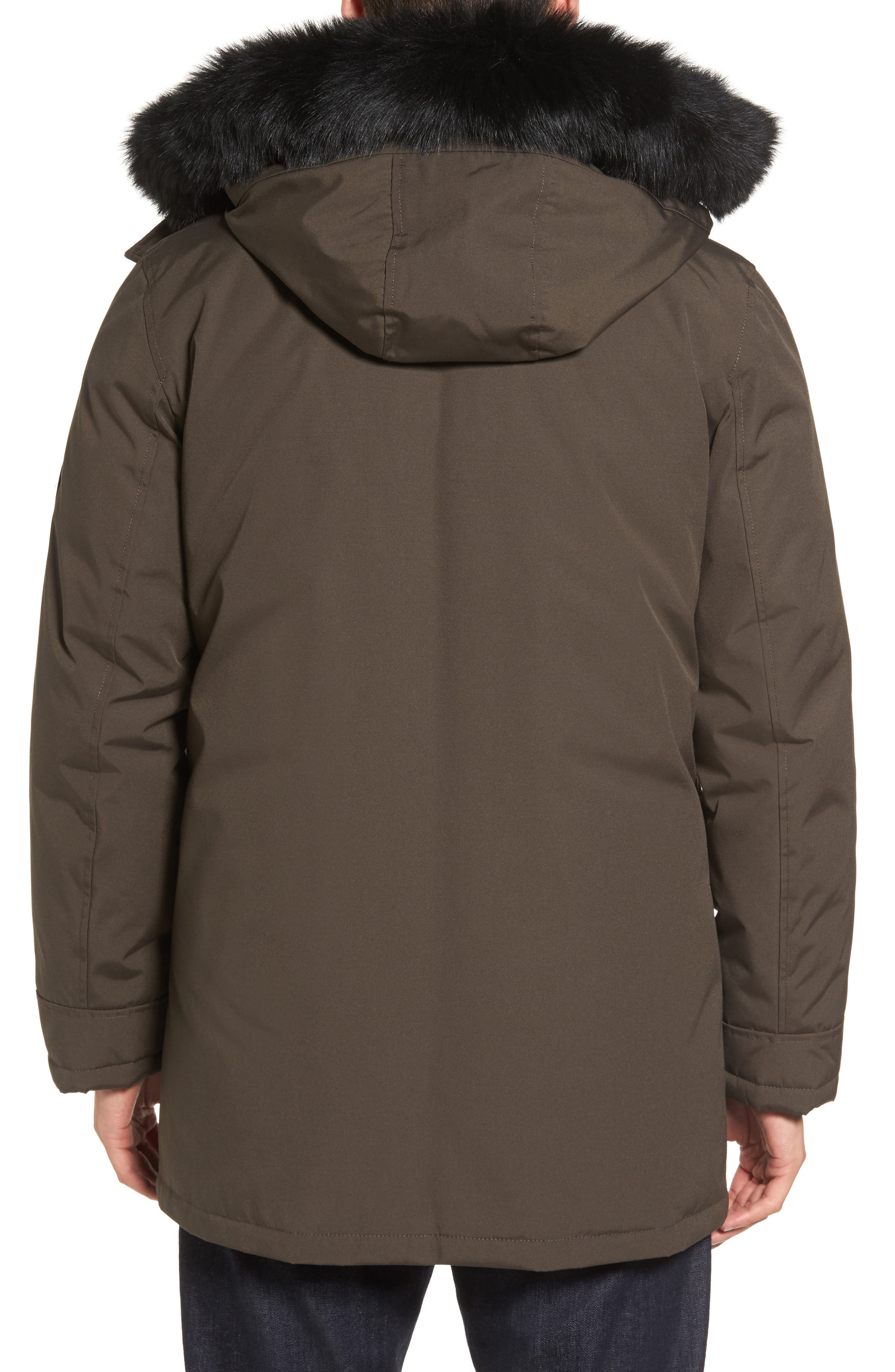 Alternate Image 2  - UGG® Butte Water-Resistant Down Parka with Genuine Shearling Trim