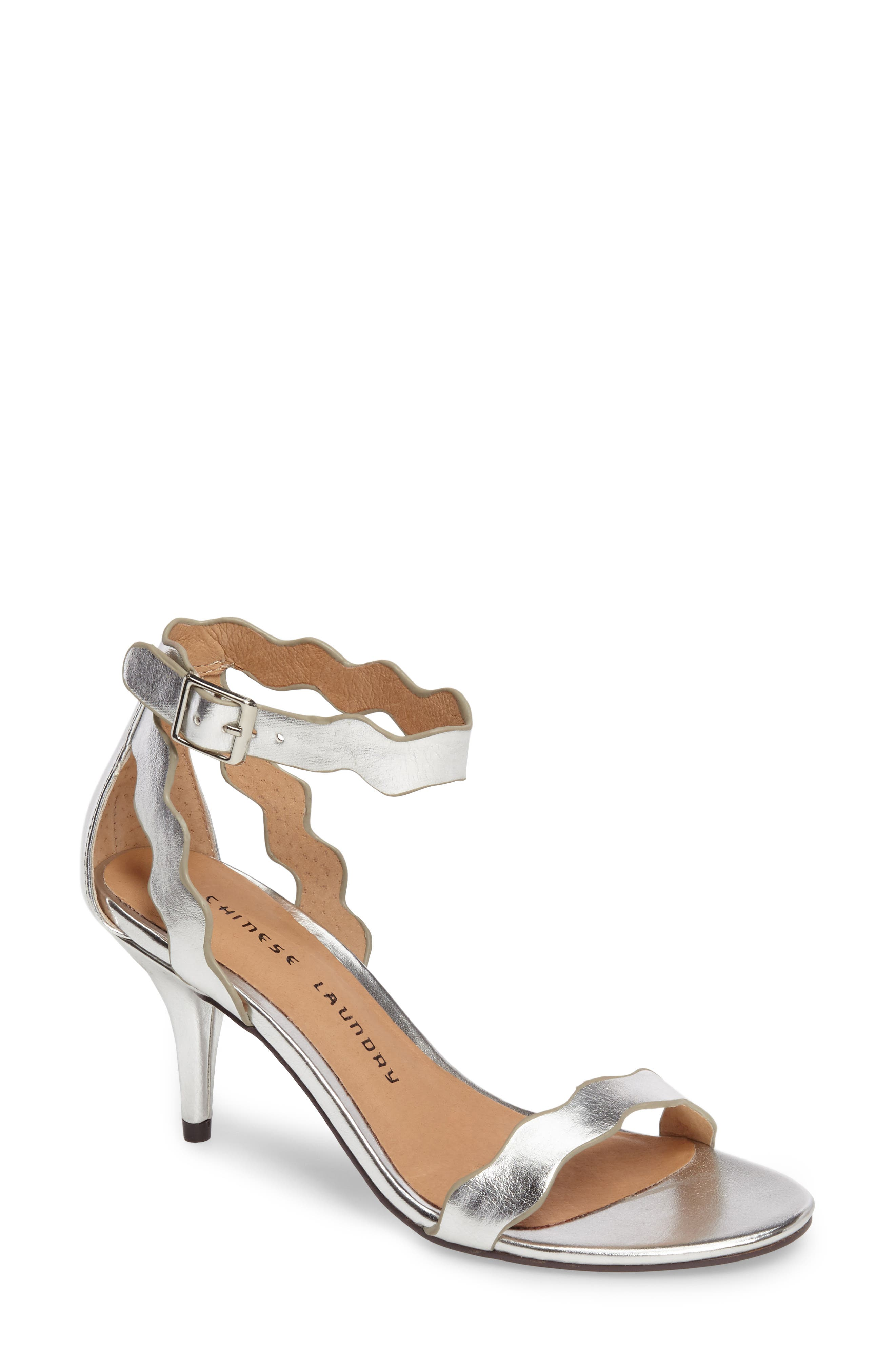 Chinese Laundry 'Rubie' Scalloped Ankle Strap Sandal (Women)
