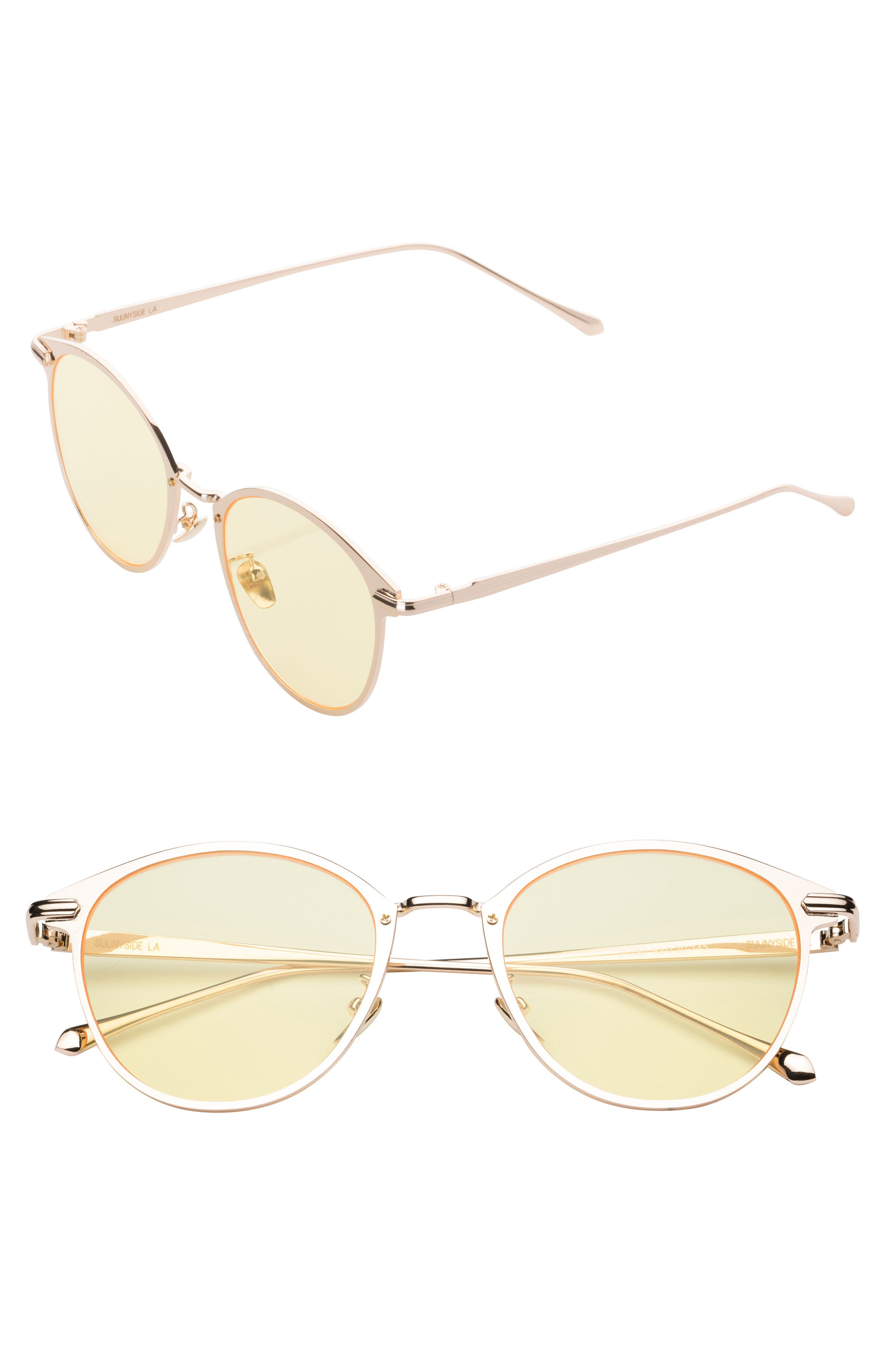 51mm Oxford Sunglasses,                             Main thumbnail 1, color,                             Yellow/ Gold