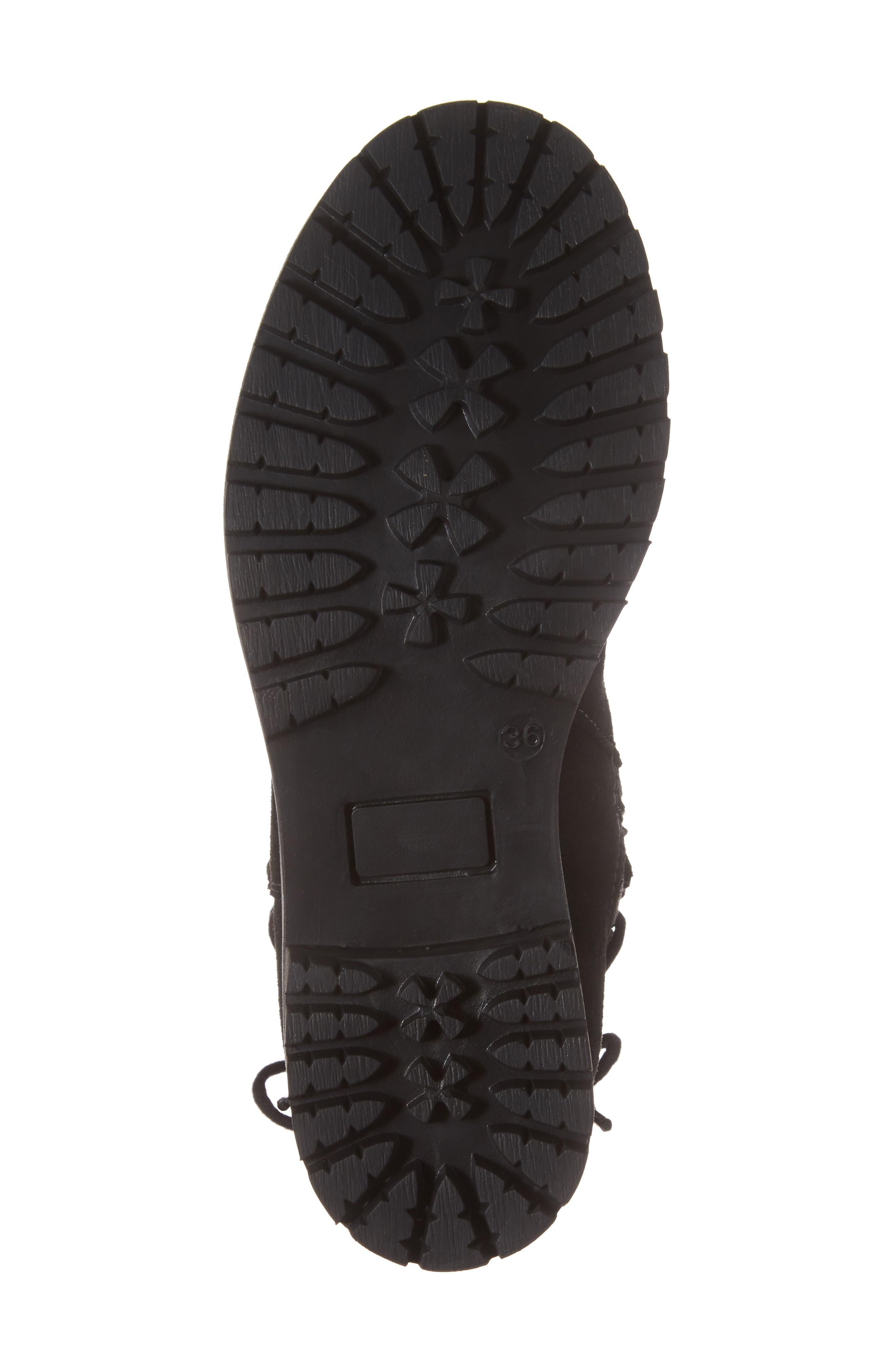 Cascade Waterproof Boot,                             Alternate thumbnail 6, color,                             Black/ Grey Suede