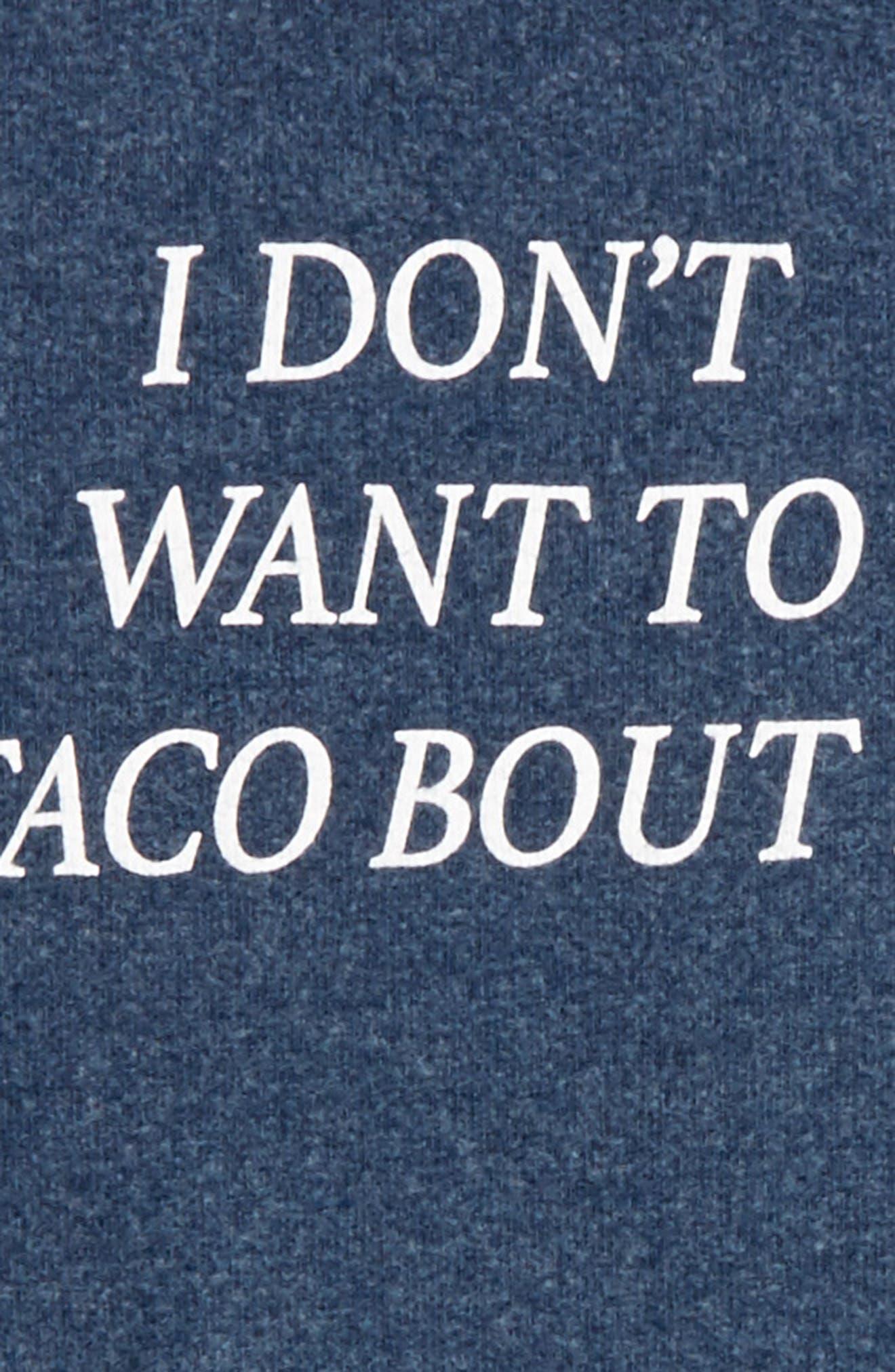 Alternate Image 2  - Wildfox Baggy Beach Jumper - Taco Talk Pullover (Big Girls)