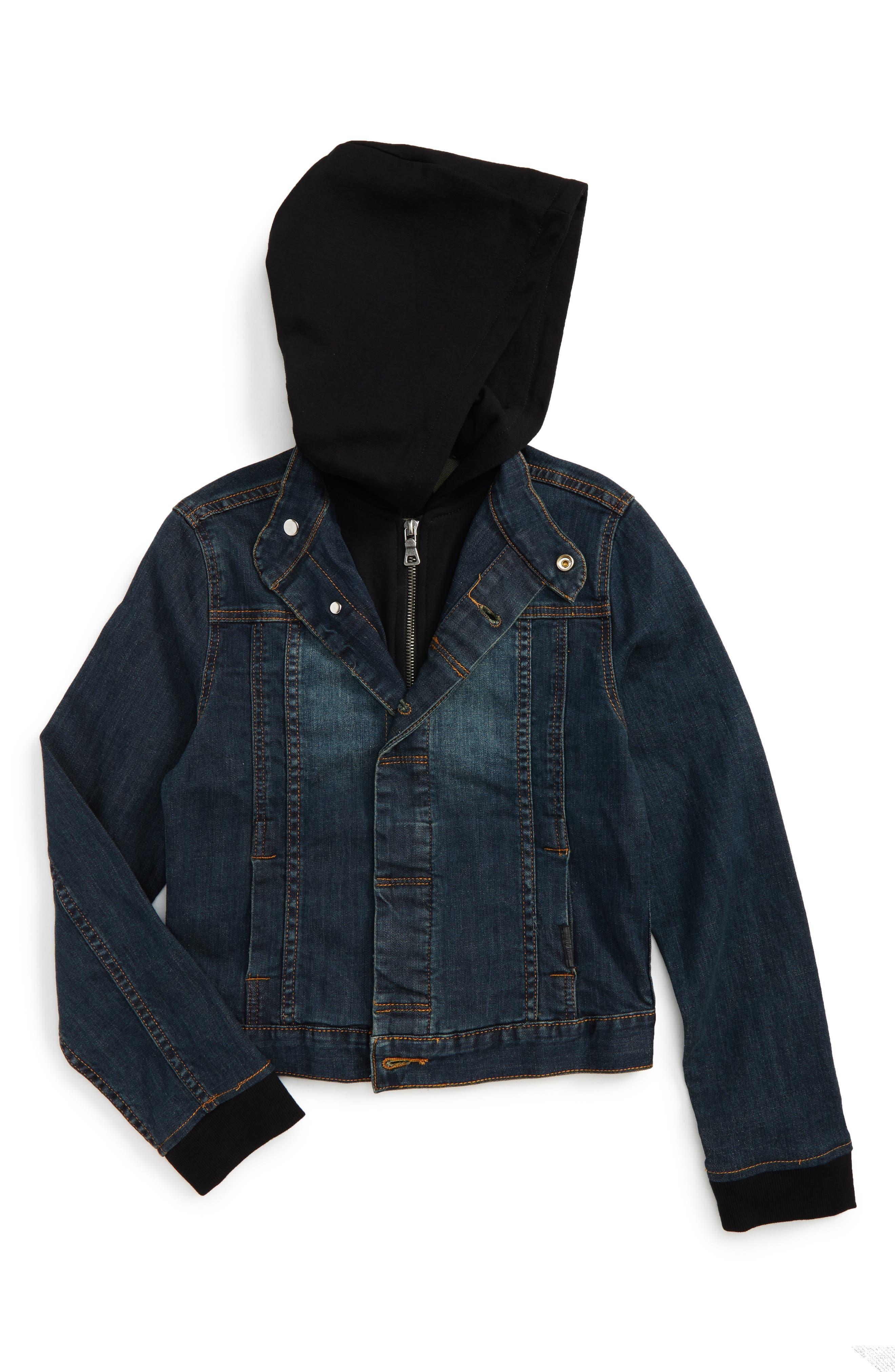 Hudson Kids Hooded Denim Jacket (Toddler Boys, Little Boys & Big Boys)