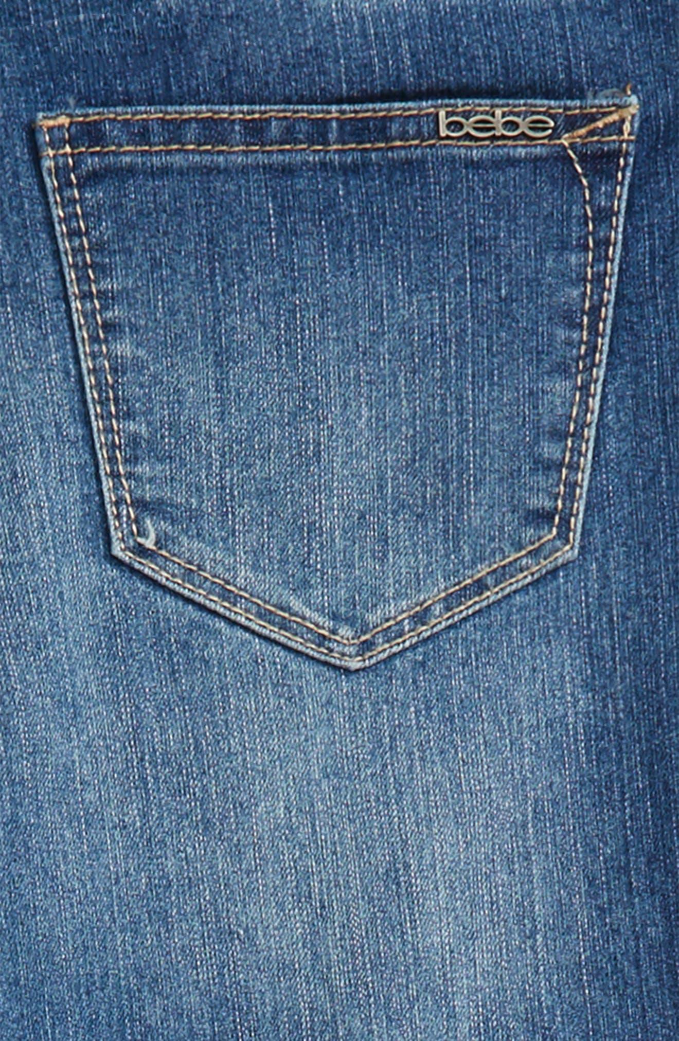 Fringe Jeans,                             Alternate thumbnail 3, color,                             Med Stone