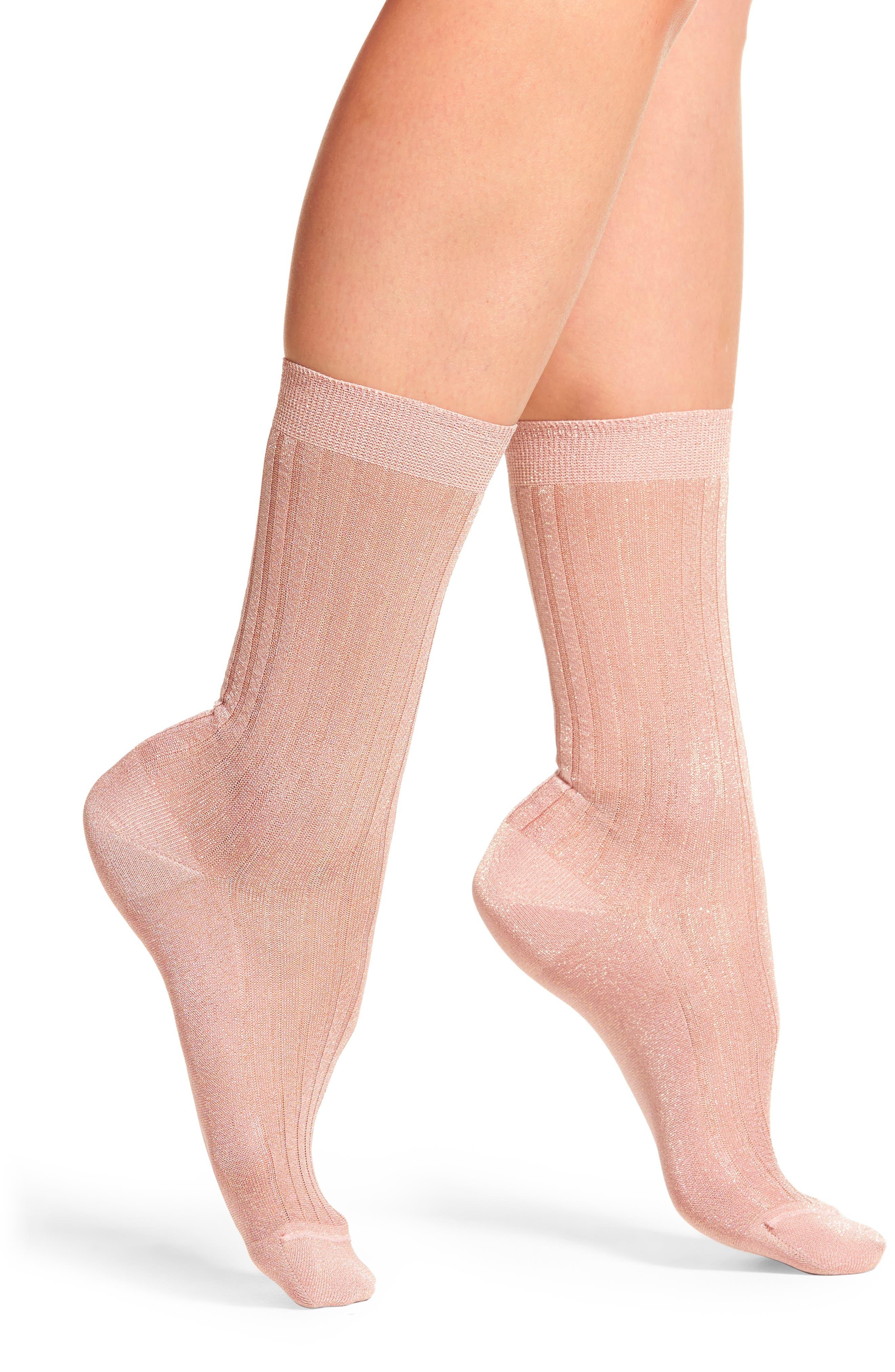 Sarah Borghi Costina Metallic Ankle Socks