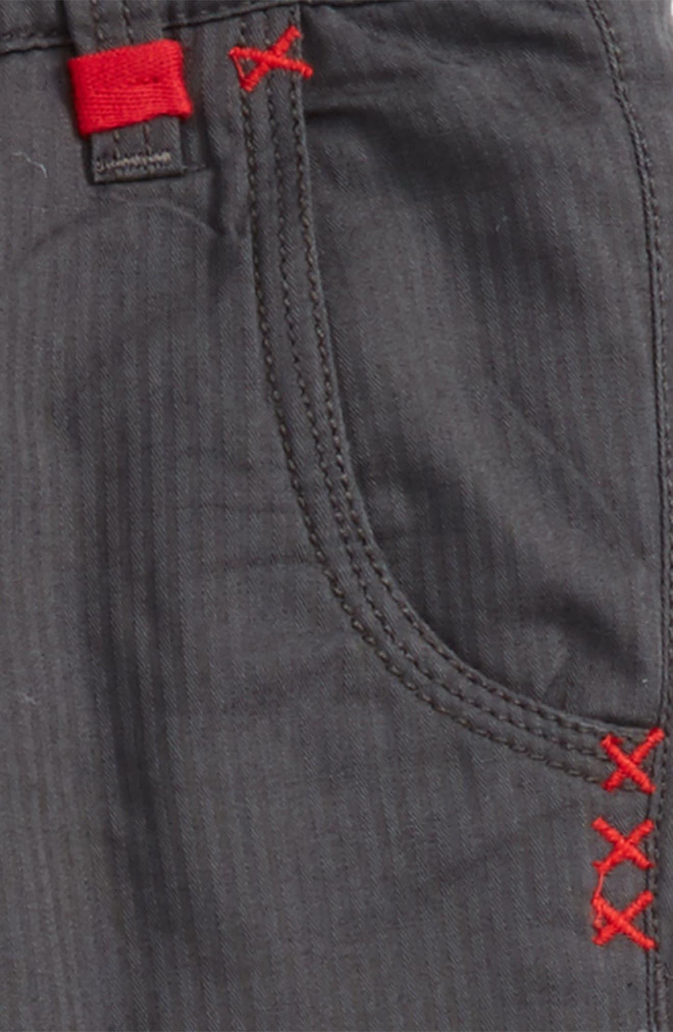 Twill Pants,                             Alternate thumbnail 2, color,                             Charcoal