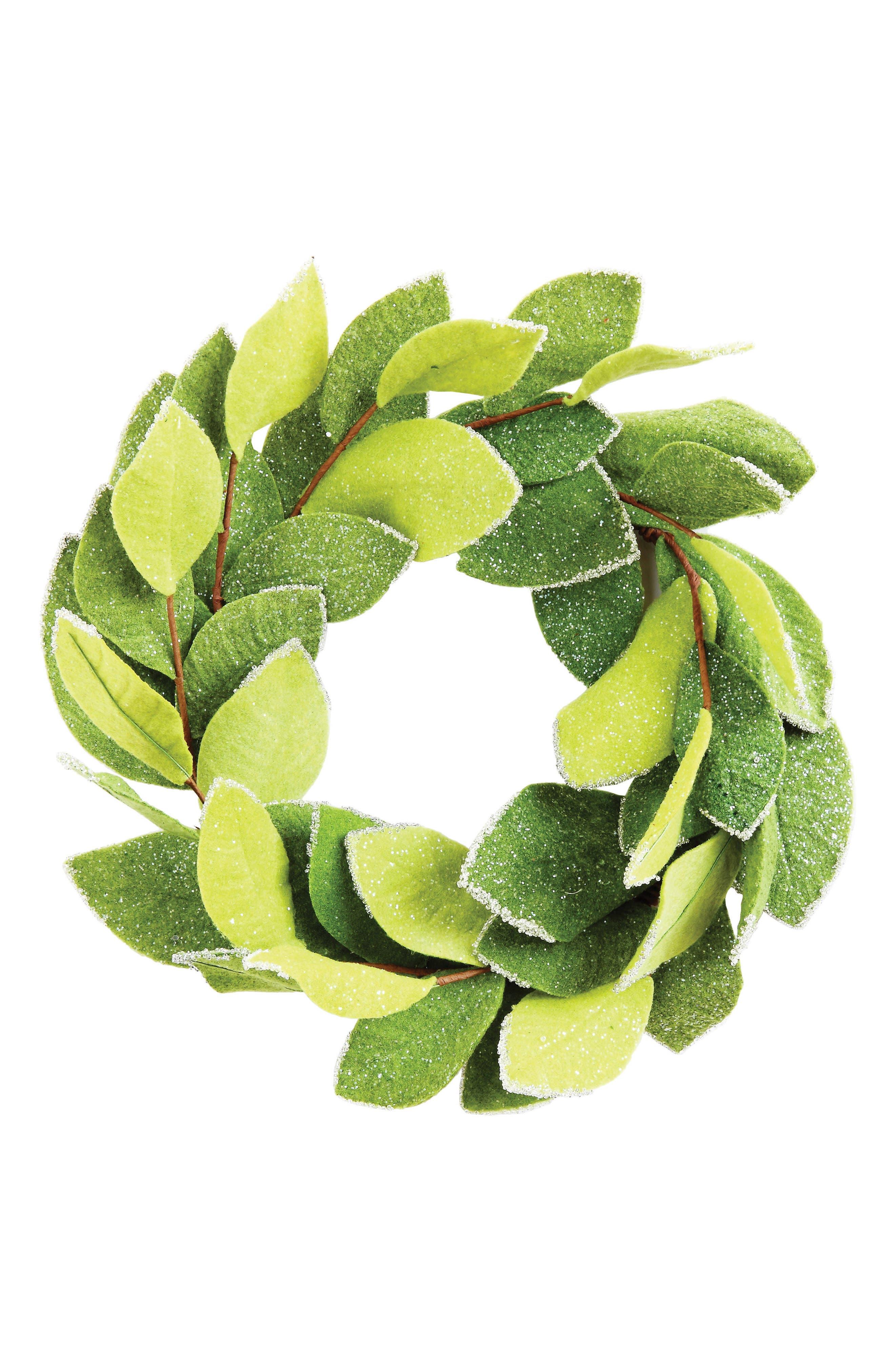Felt Wreath,                         Main,                         color, Green