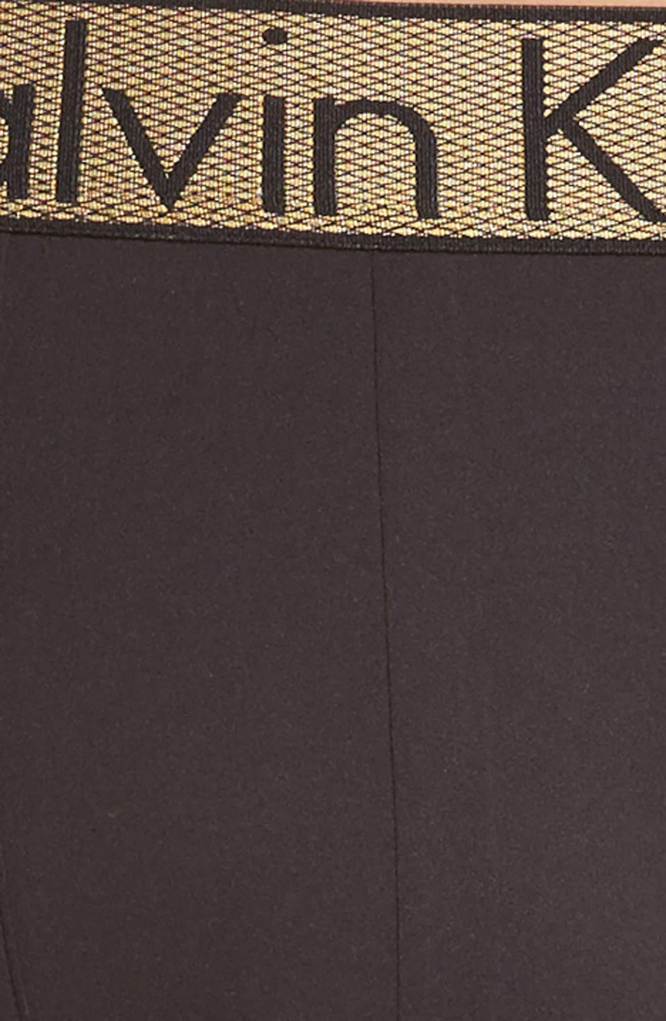 Boxer Briefs,                             Alternate thumbnail 4, color,                             Black W/ Gold Wb