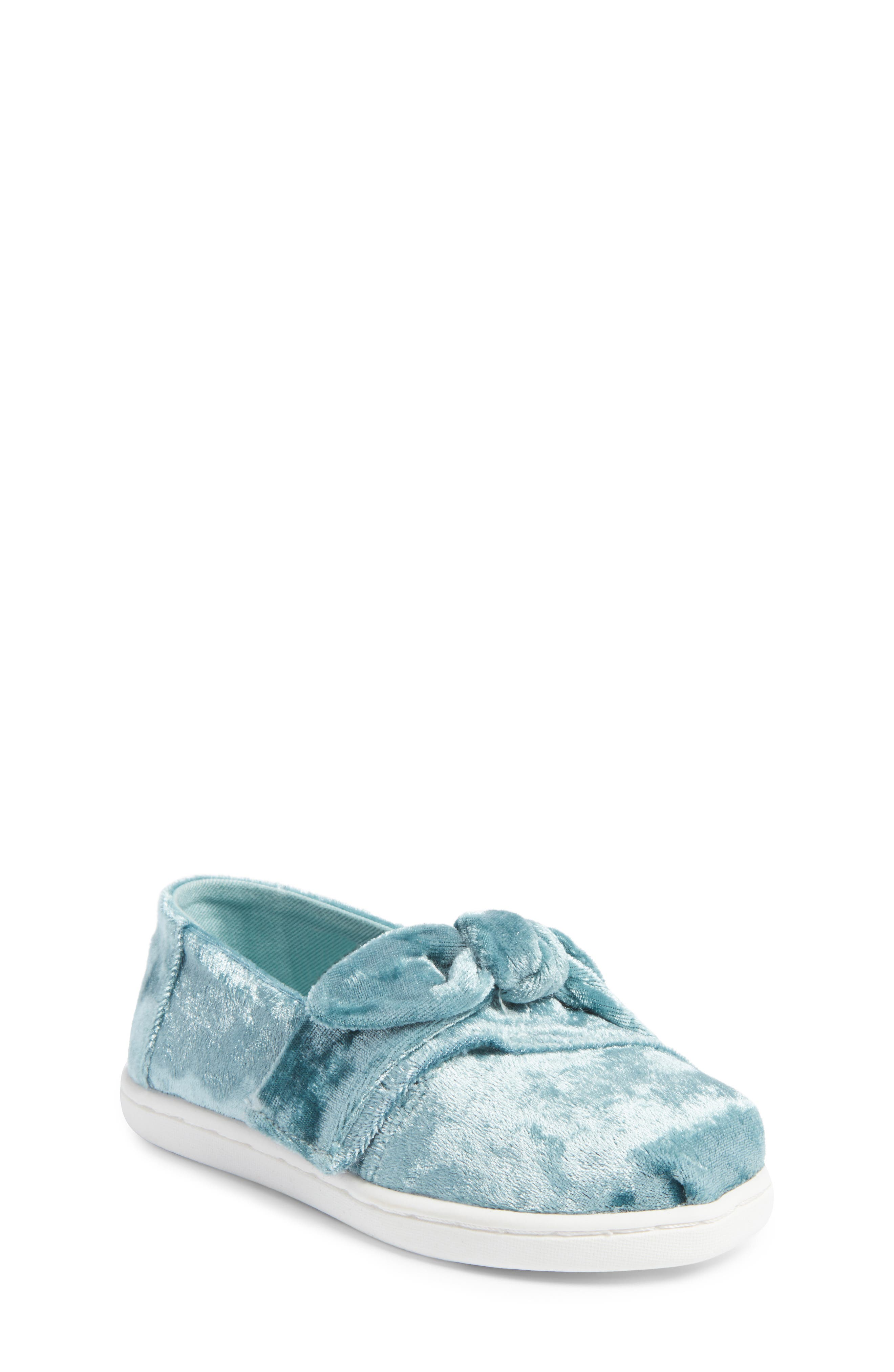 TOMS® Alpargata Knotted Flat (Baby, Walker & Toddler)