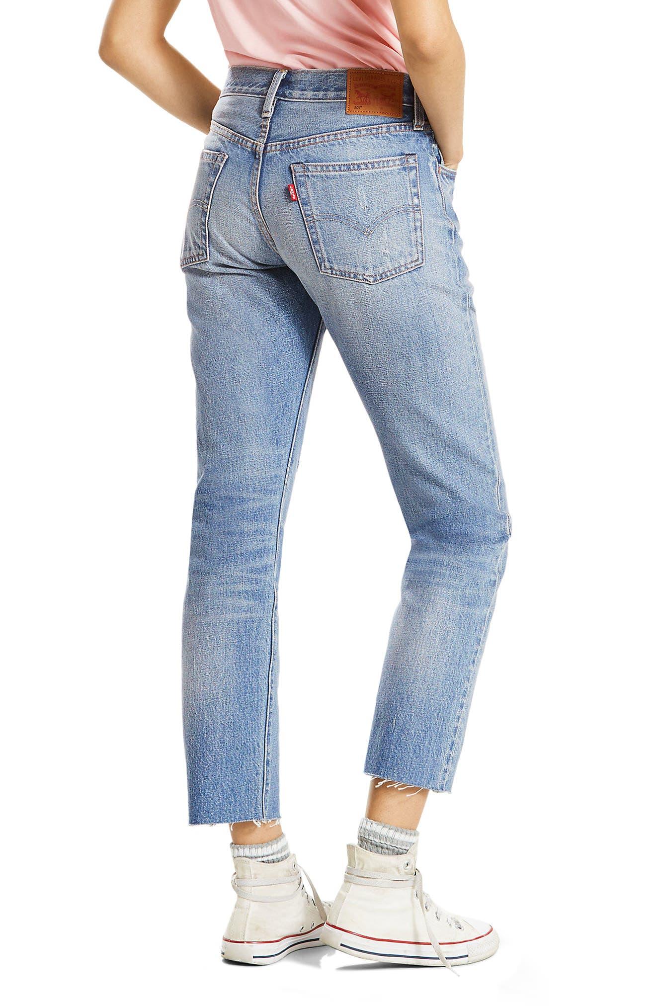 501 High Waist Straight Leg Jeans,                             Alternate thumbnail 2, color,                             Into The Blue