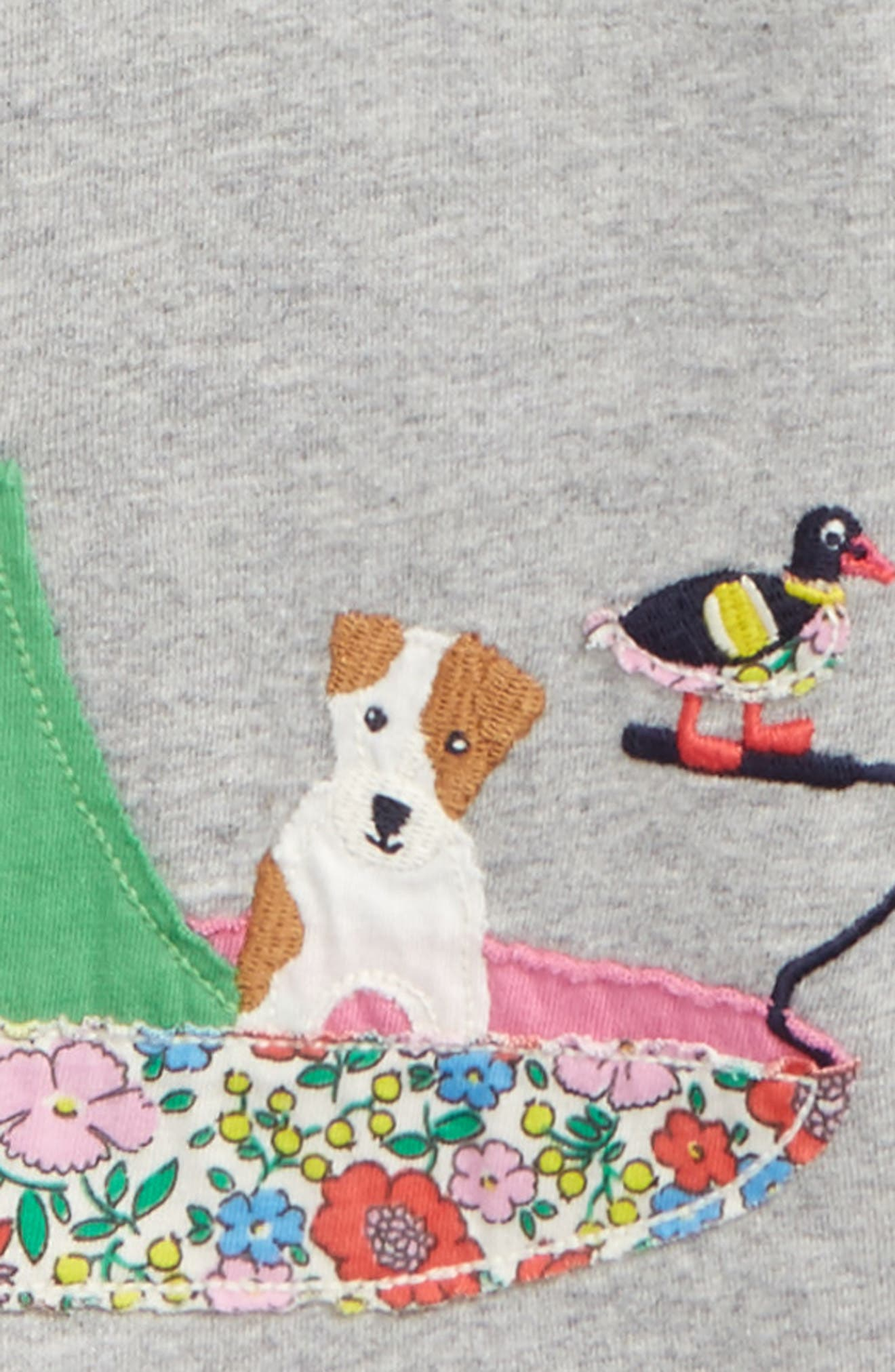 Alternate Image 2  - Mini Boden Patchwork Appliqué Tee (Toddler Girls, Little Girls & Big Girls)