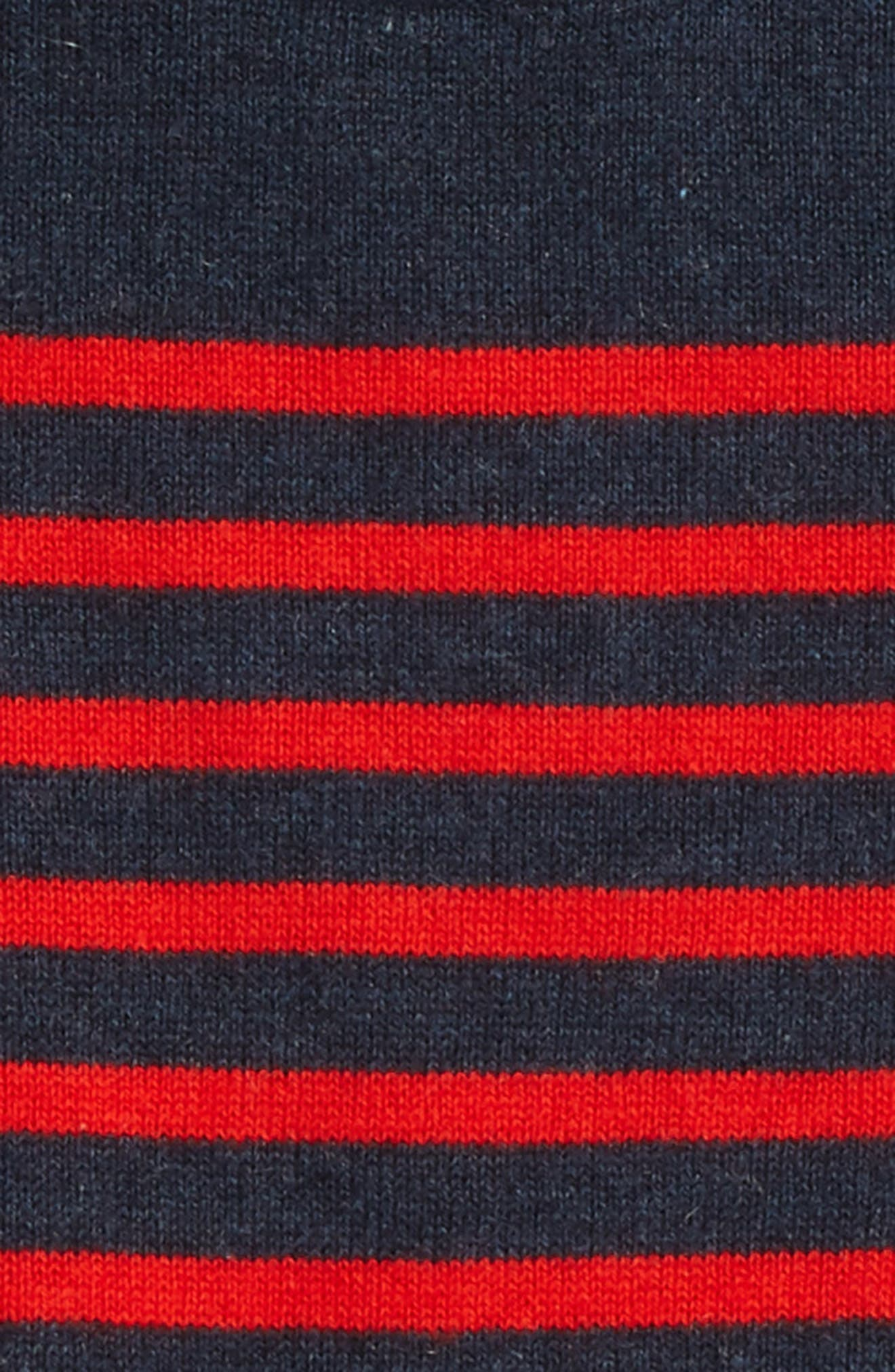 Stripe Sweater,                             Alternate thumbnail 2, color,                             Navy/ Beatnik Red