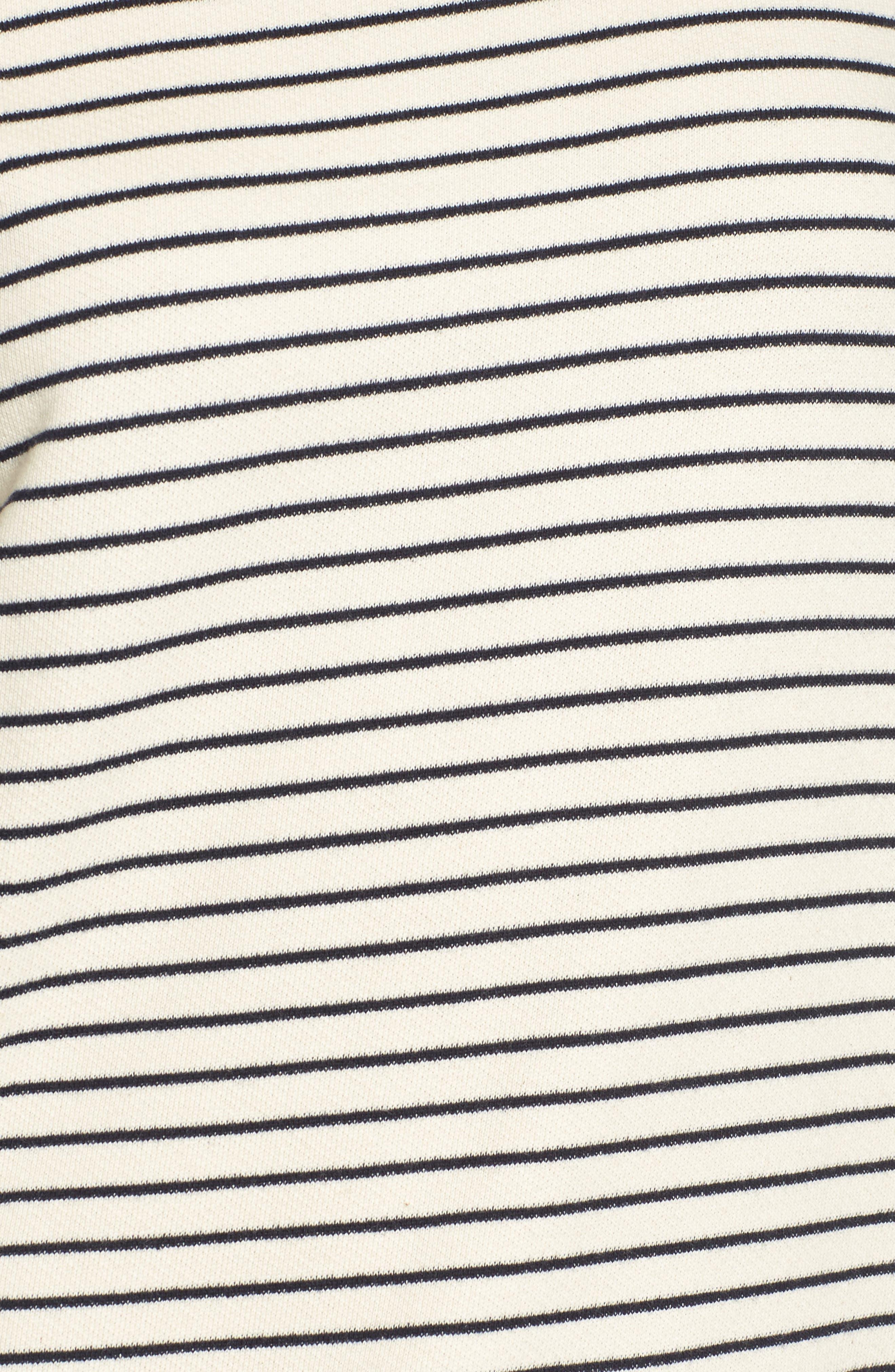 Wildair Cold Shoulder Sweatshirt,                             Alternate thumbnail 5, color,                             Ski Stripe