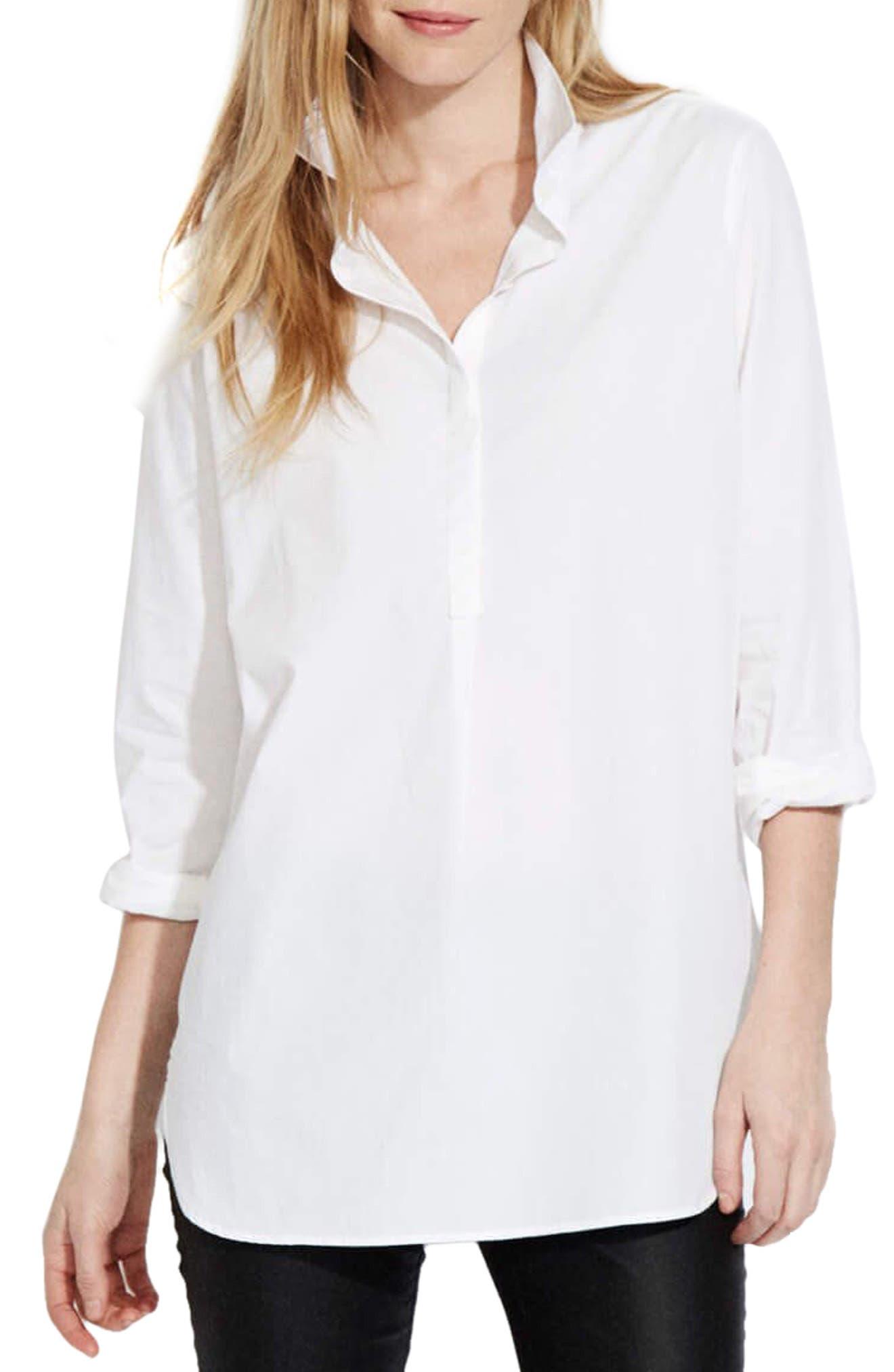 The Easy Shirt,                             Main thumbnail 1, color,                             White Poplin