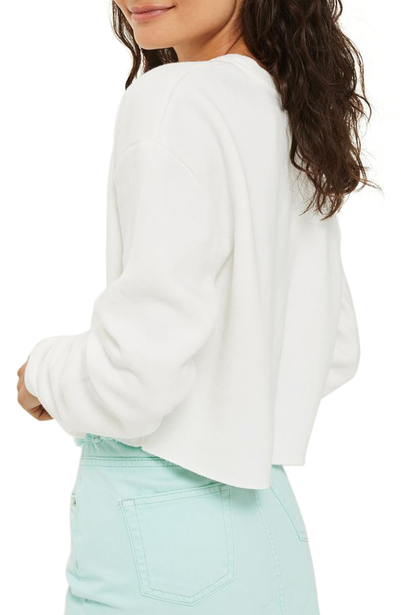 Alternate Image 2  - Topshop Crop Sweatshirt