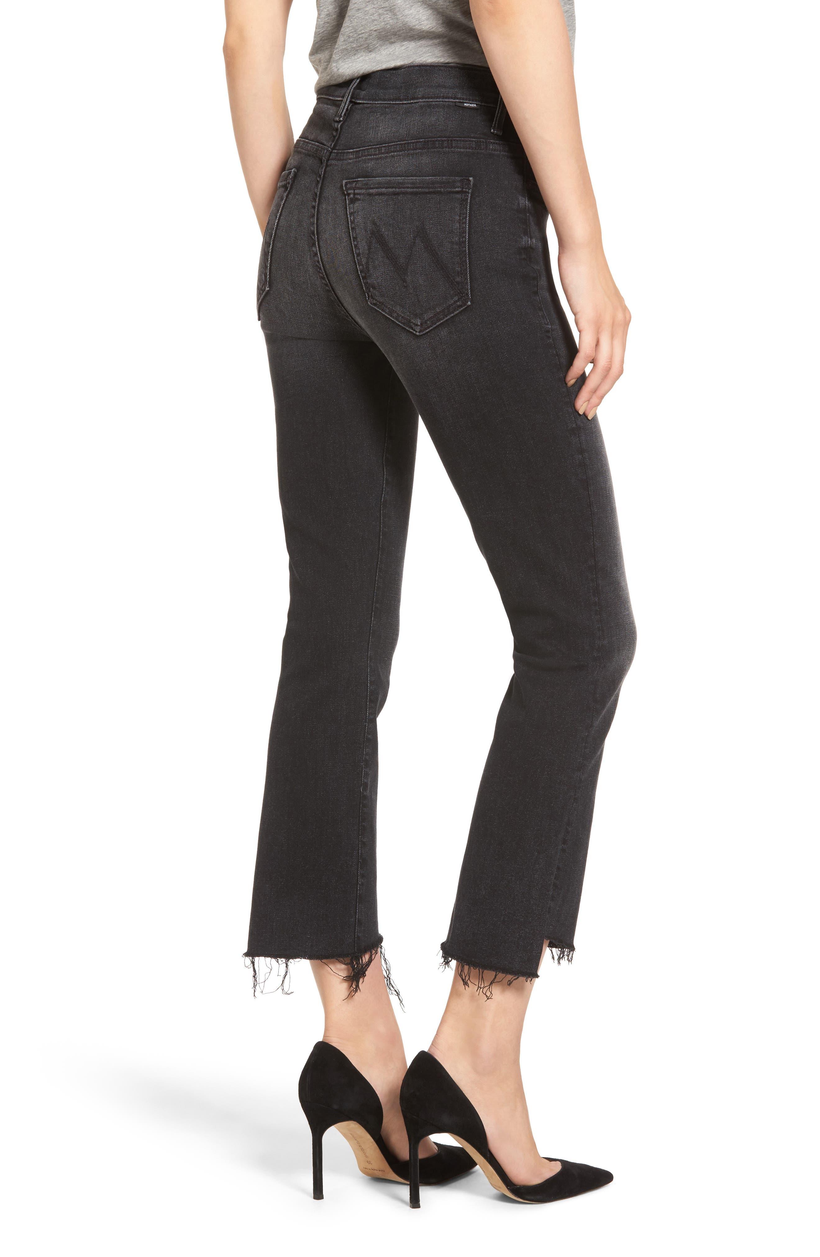 Alternate Image 2  - MOTHER The Insider High Waist Step Hem Crop Bootcut Jeans (Night Hawk)