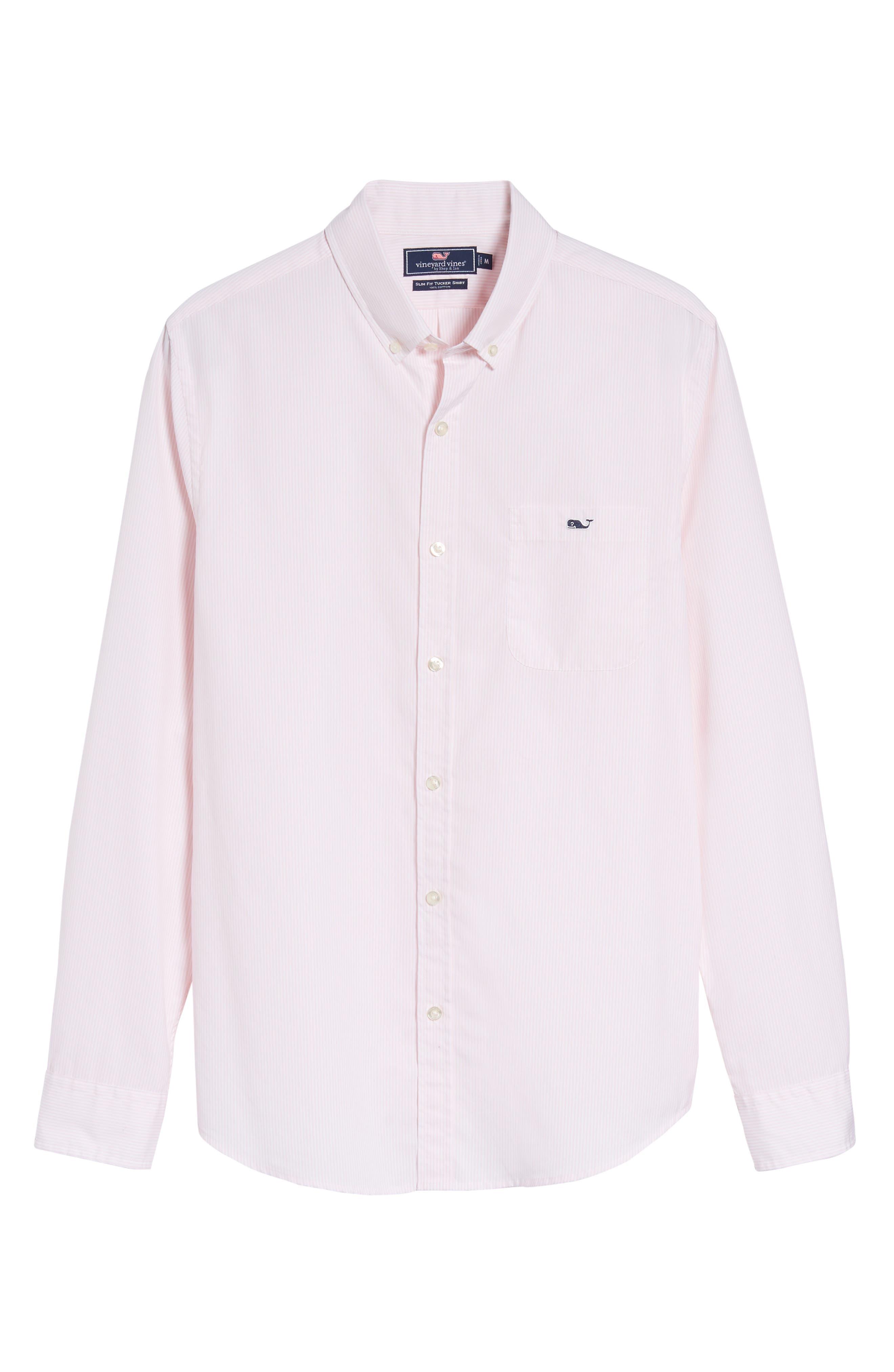 Alternate Image 6  - vineyard vines Seabird Stripe Tucker Slim Fit Sport Shirt